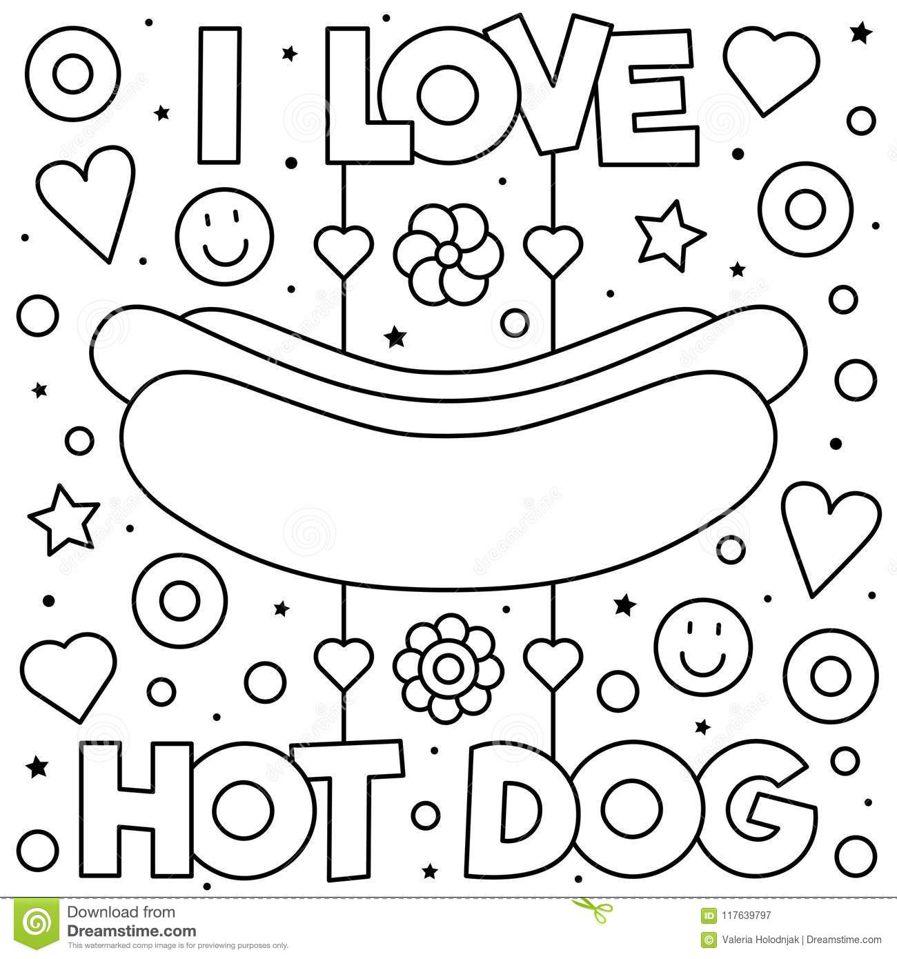Coloring Page. Vector Illustration. Stock Vector - Illustration of ...