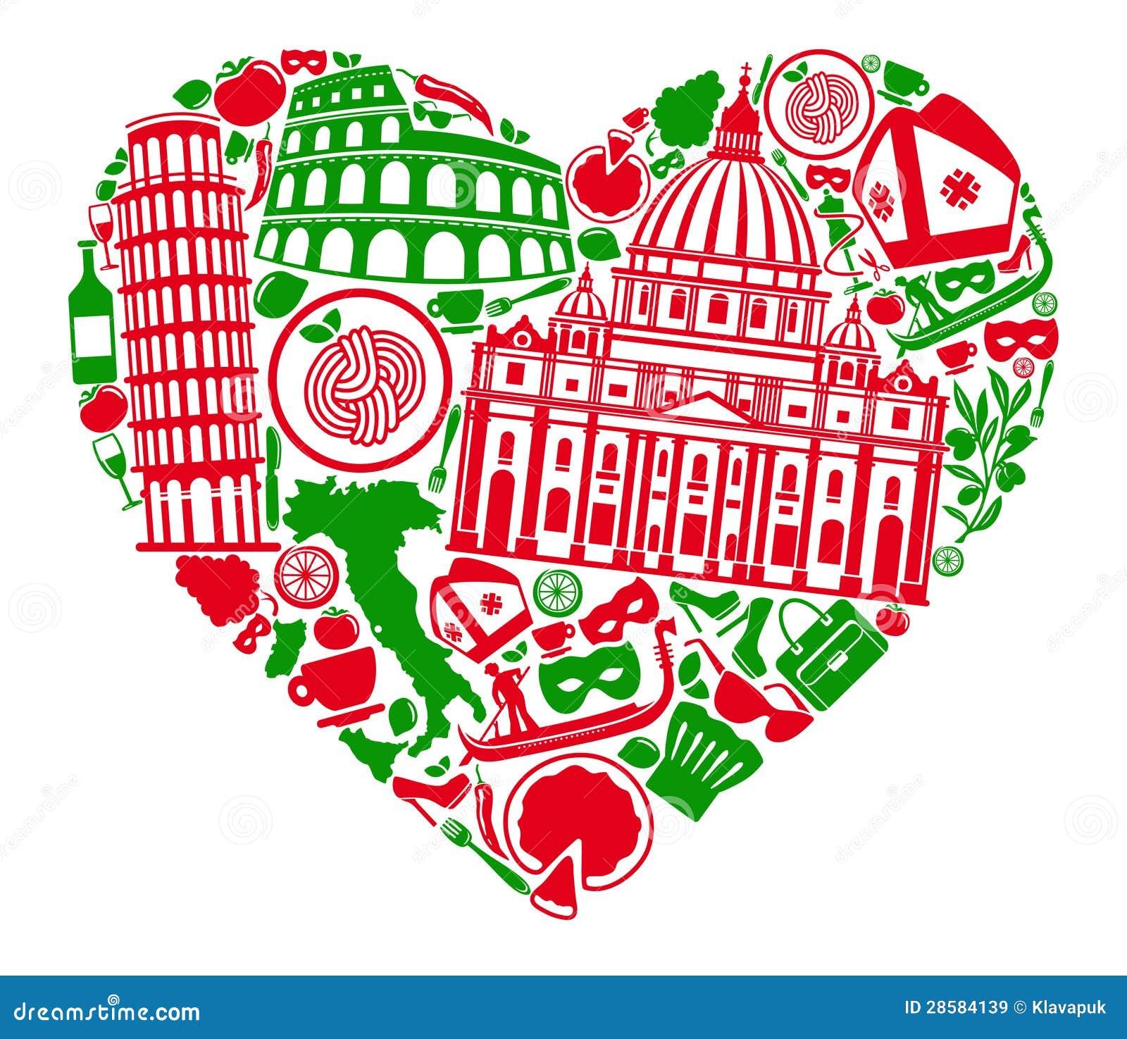 I Love Italy Stock Vector Illustration Of Journey Mask 28584139