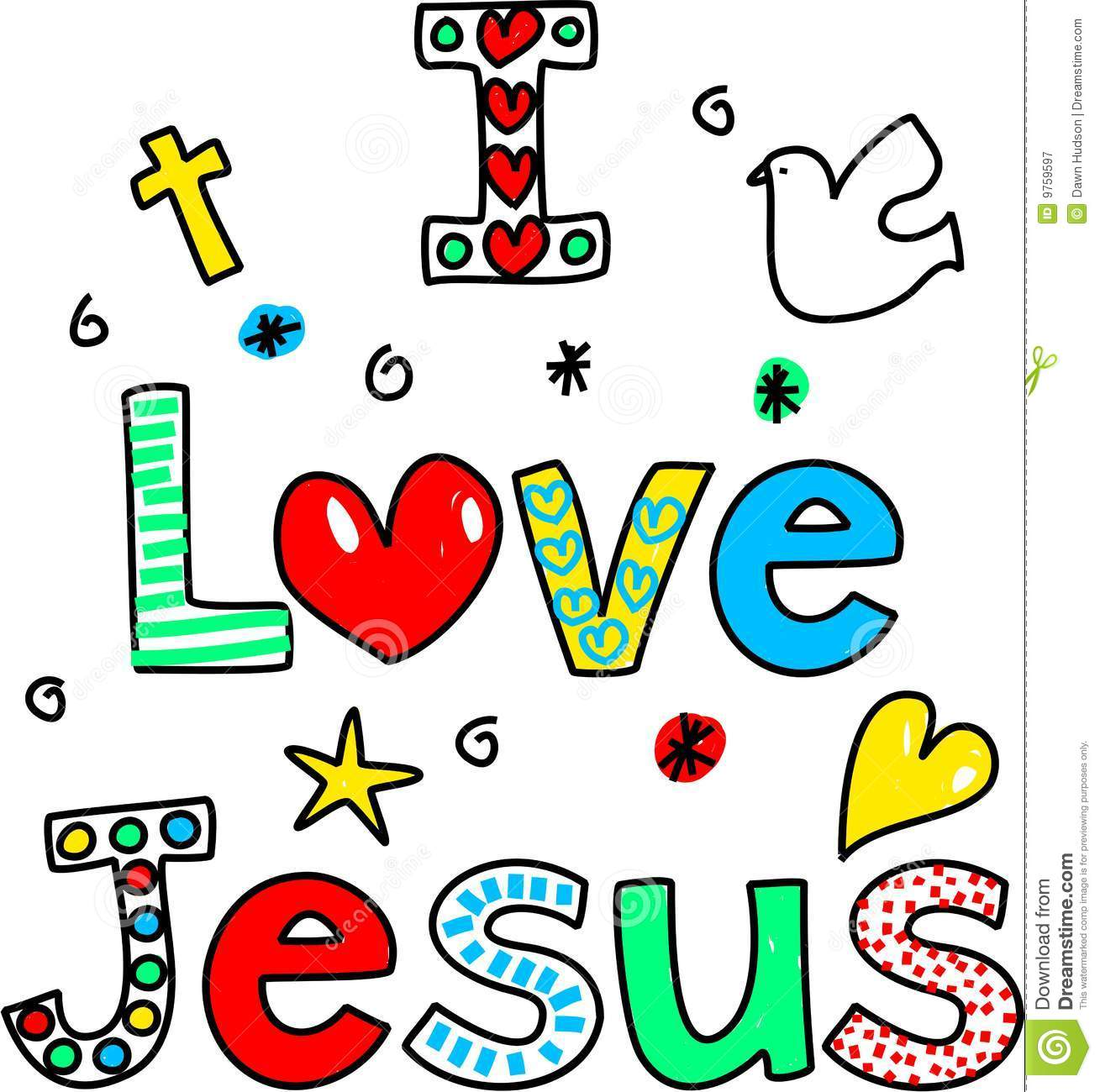 I Love Jesus Royalty Free Stock Photography Image 9759597