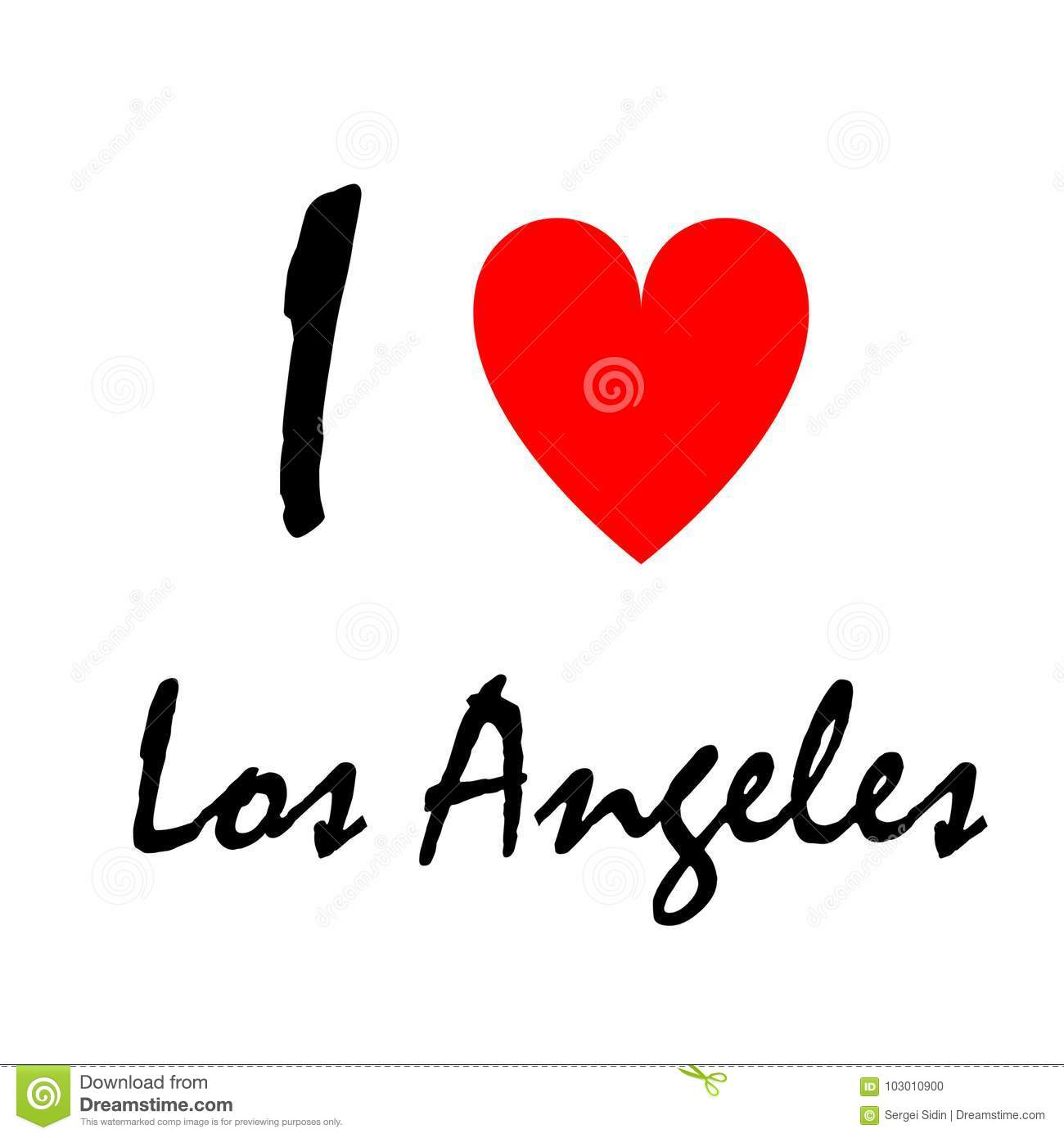 I Love Los Angeles Logo Decorative Background Can Be Used For