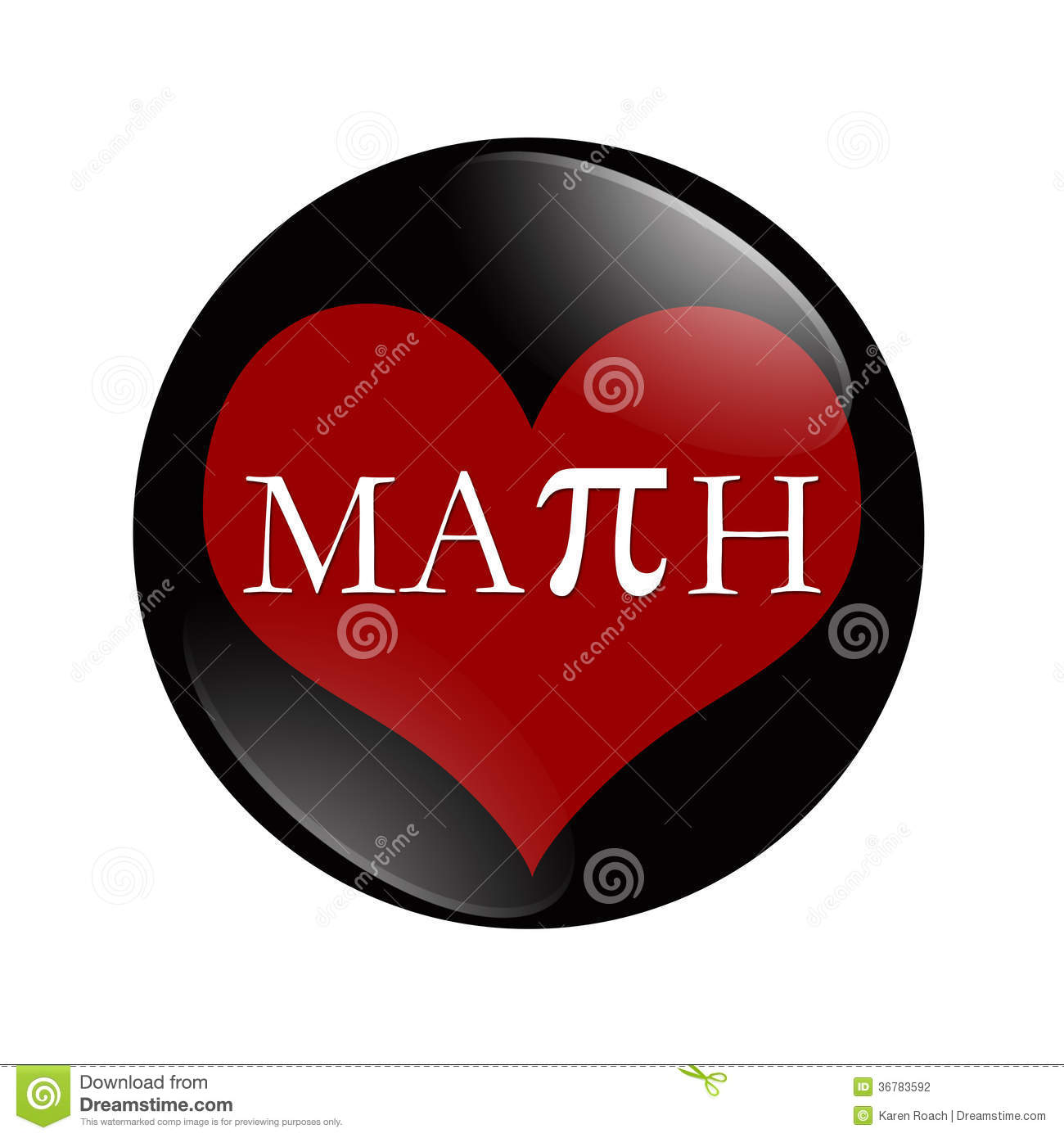 i love math button stock illustration. illustration of copy - 36783592