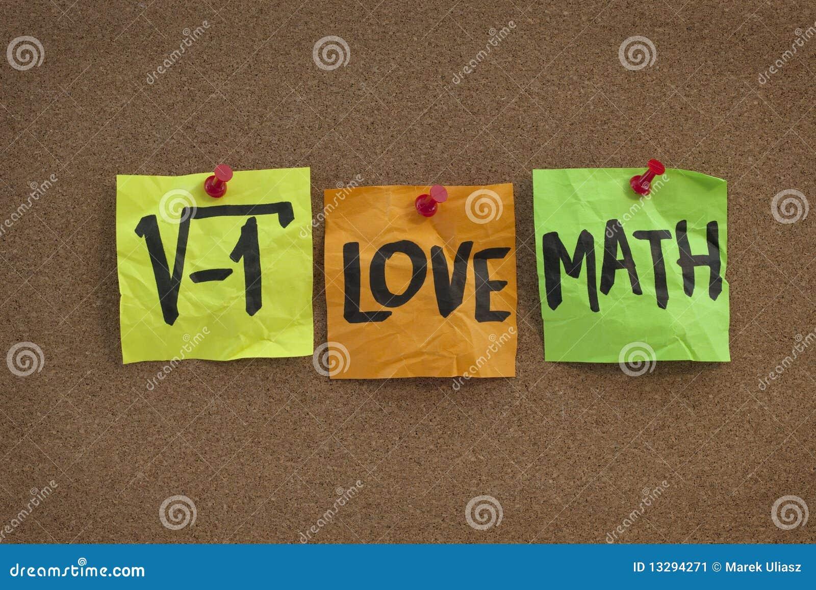 I love math - concept on bulletin board