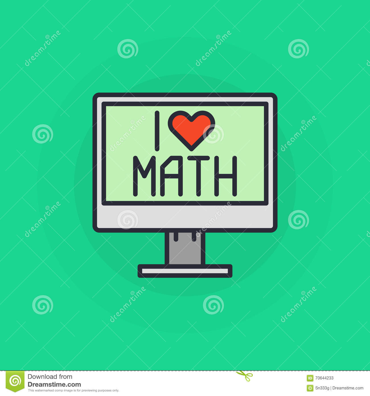 I love mathematics symbol stock vector illustration of educate i love mathematics symbol buycottarizona