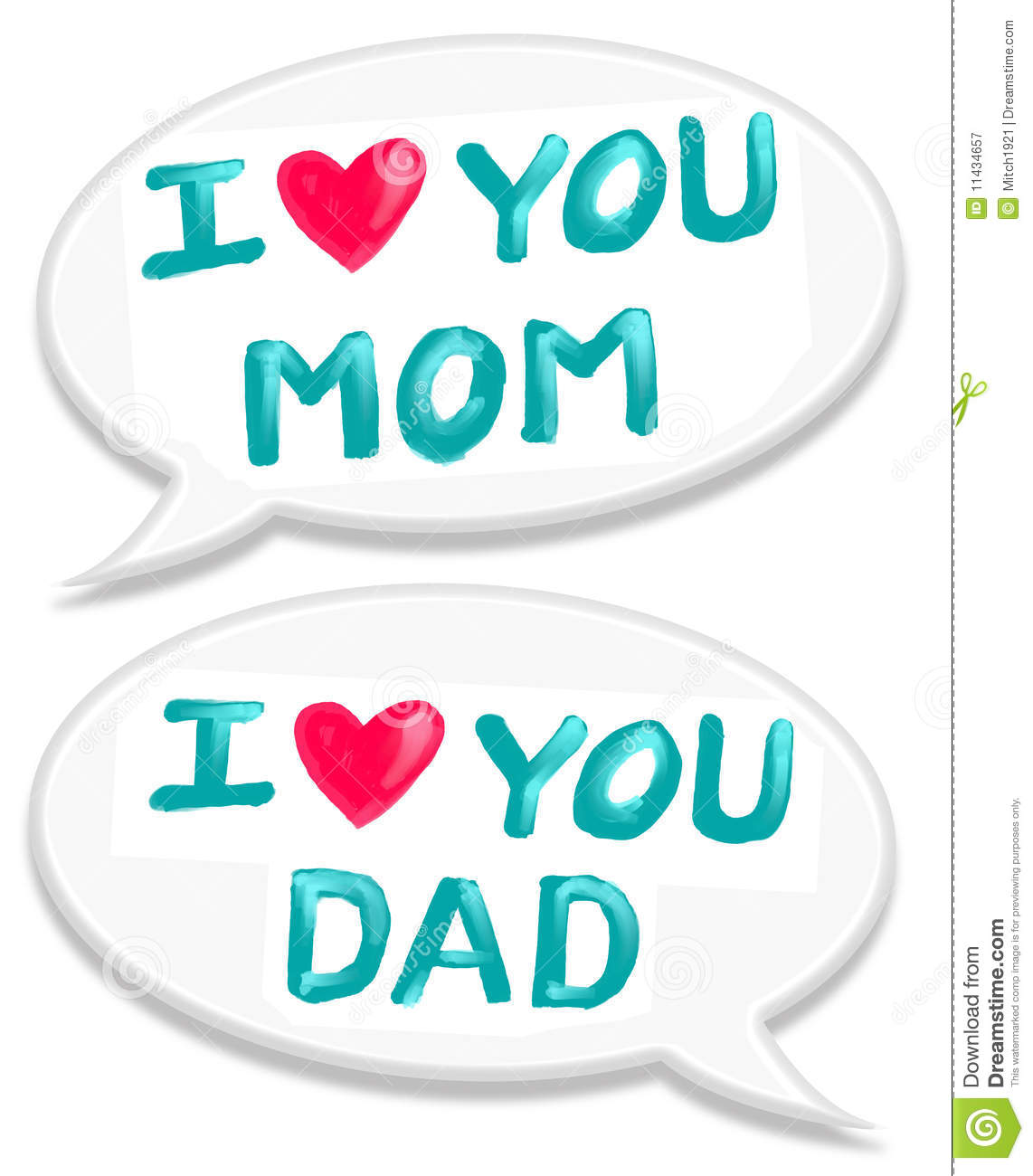 i love mom dad 11434657