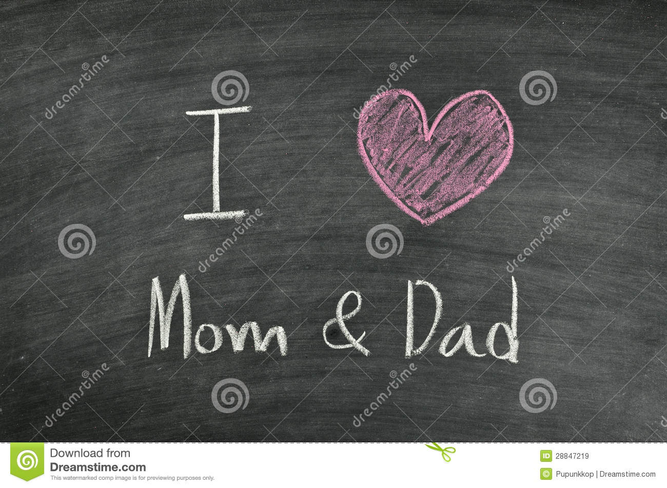I Love Mom Amp Dad Royalty Free Stock Images Image 28847219