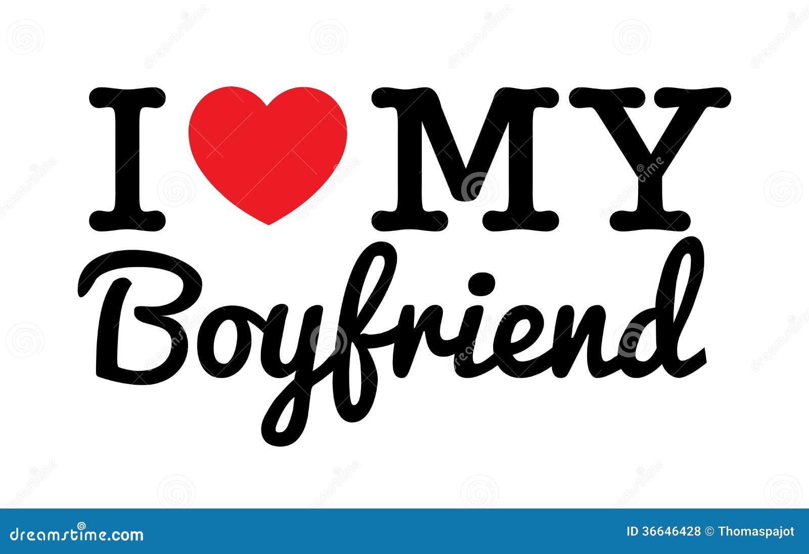 I Love My Boyfriend Stock Vector Illustration Of Heart 36646428