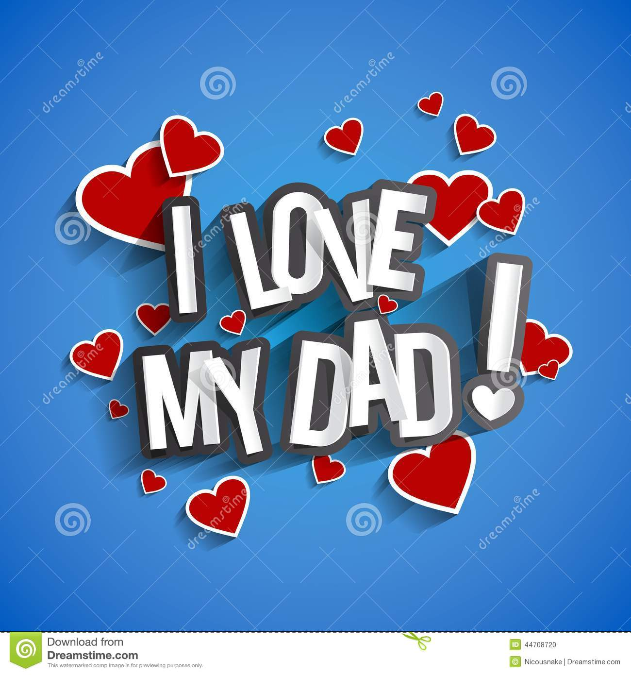 I love my dad stock vector image 44708720 for I love to design