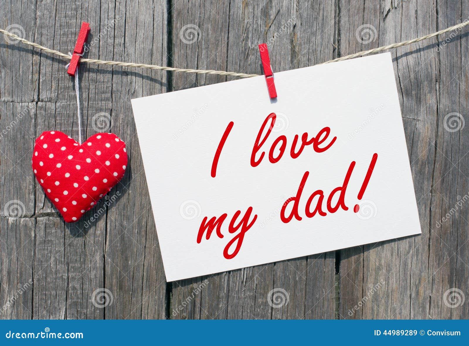 i love my dad stock image image of clothesline wood 44989289. Black Bedroom Furniture Sets. Home Design Ideas