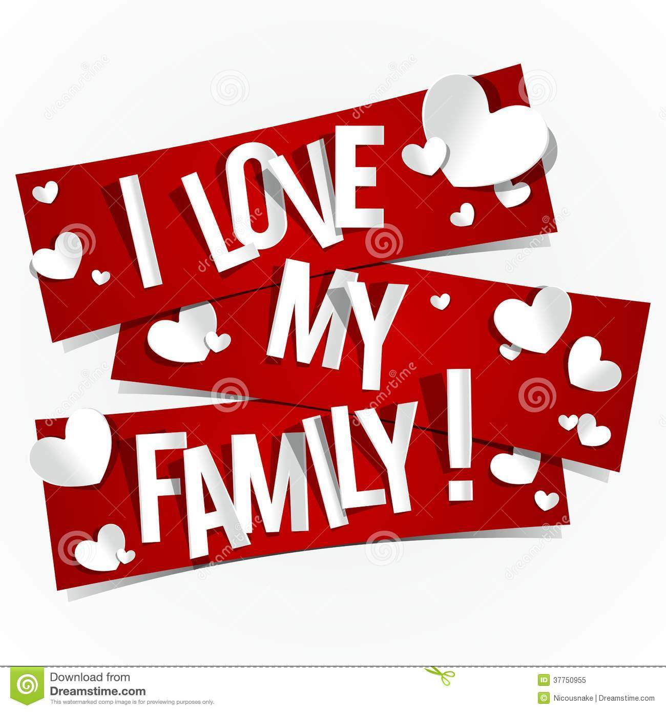 Love My Family Pictures I Love My Family Royalty Free