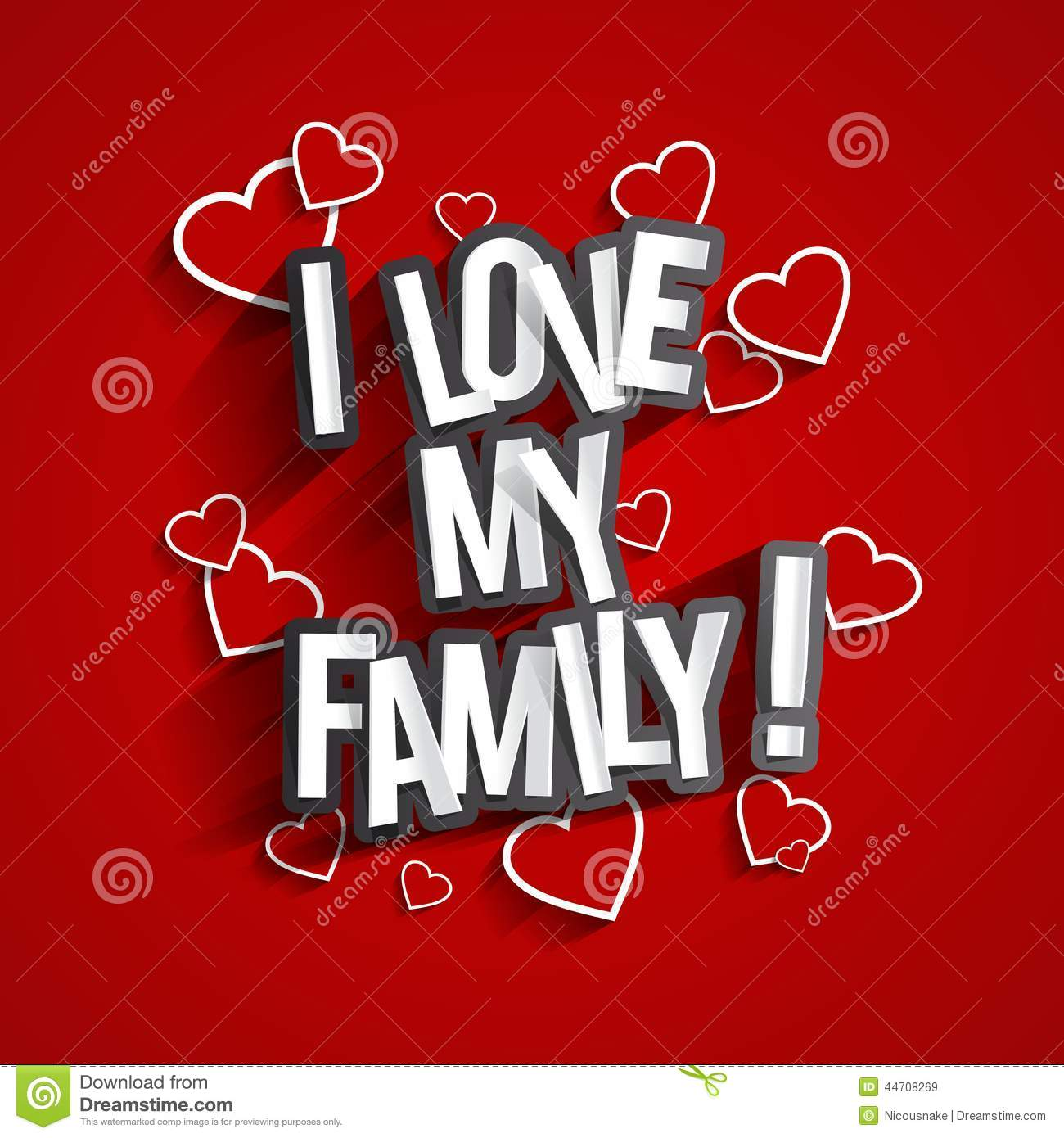I Love My Family Stock Vector Illustration Of Husband 44708269