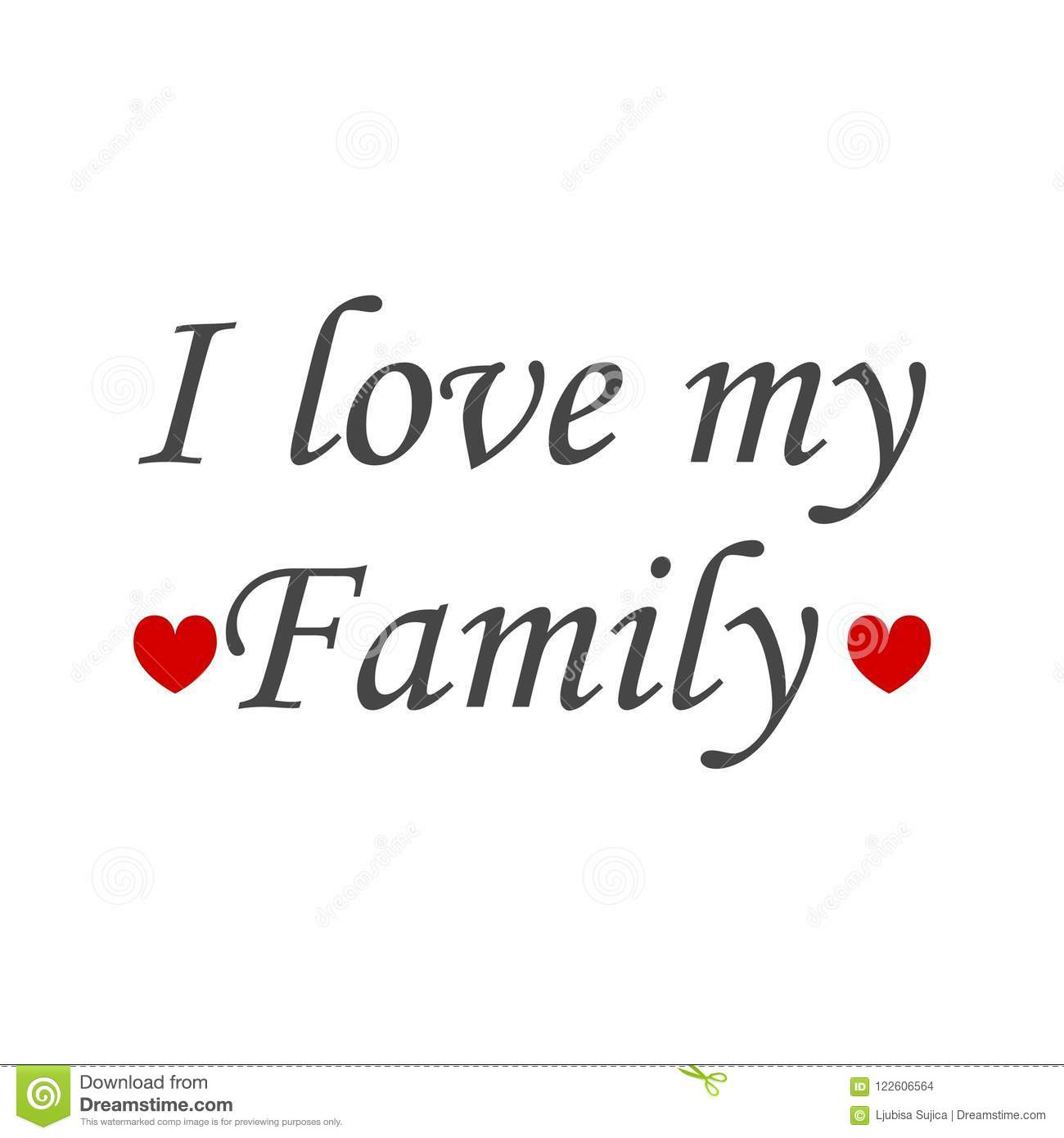 I Love My Family Icon Sign Logo Stock Illustration Illustration Of