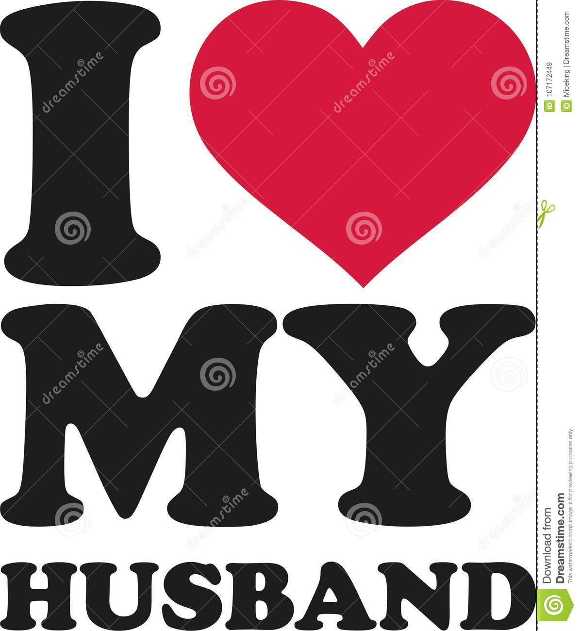 I love my husband stock vector. Illustration of heterosexual