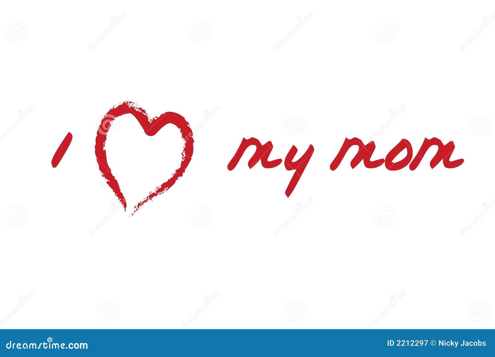 I love my mom card stock vector illustration of heart 2212297 i love my mom card altavistaventures Choice Image