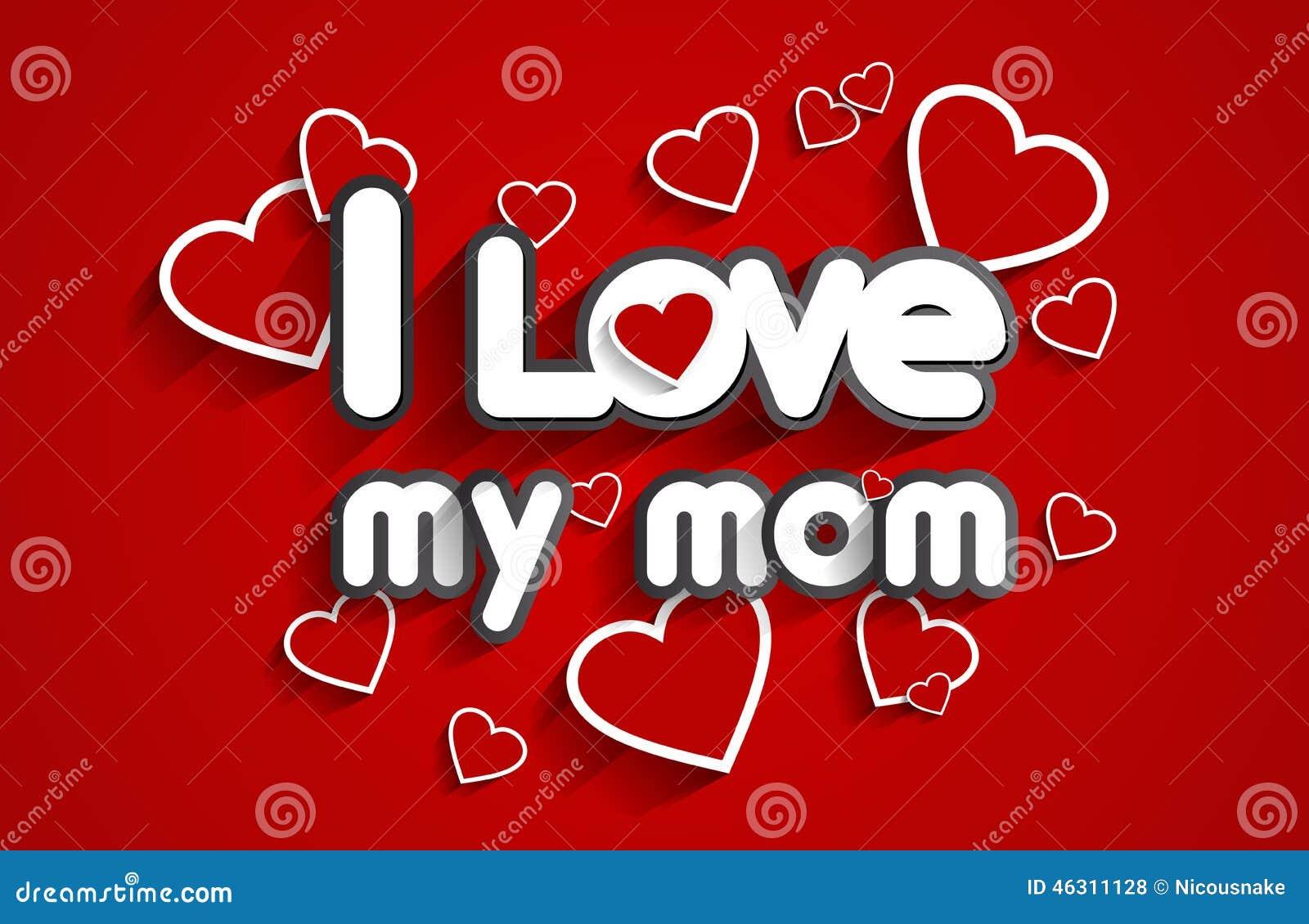 I love my mom stock vector illustration of decoration 46311128 i love my mom decoration decorative altavistaventures Choice Image