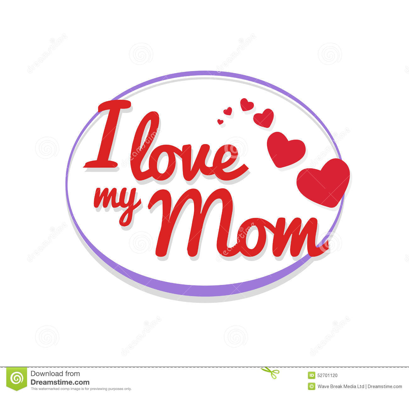 I love my mom stock vector illustration of pencil text 28738821 i love my mom vector stock photo altavistaventures Choice Image