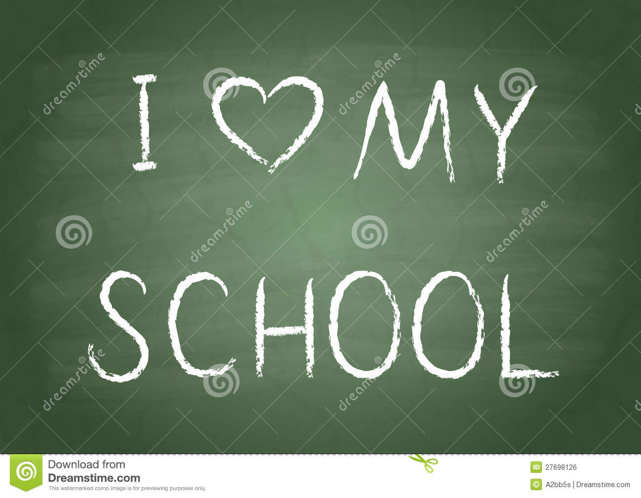 I Love My School Royalty Free Stock Image Image 27698126
