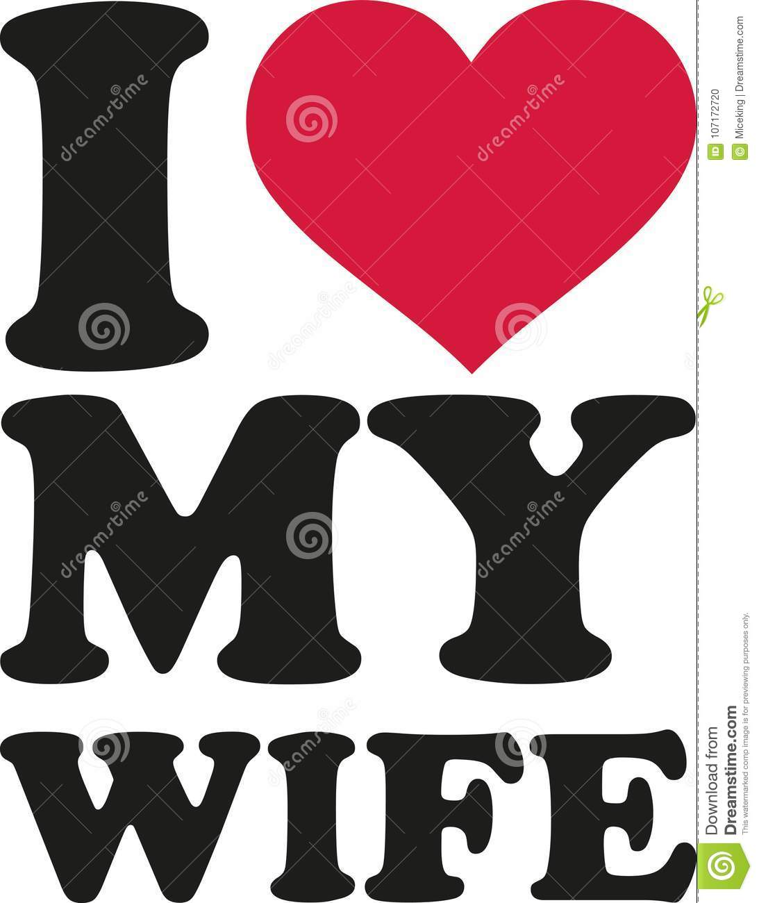 I Love My Wife Stock Vector Illustration Of Couple 107172720