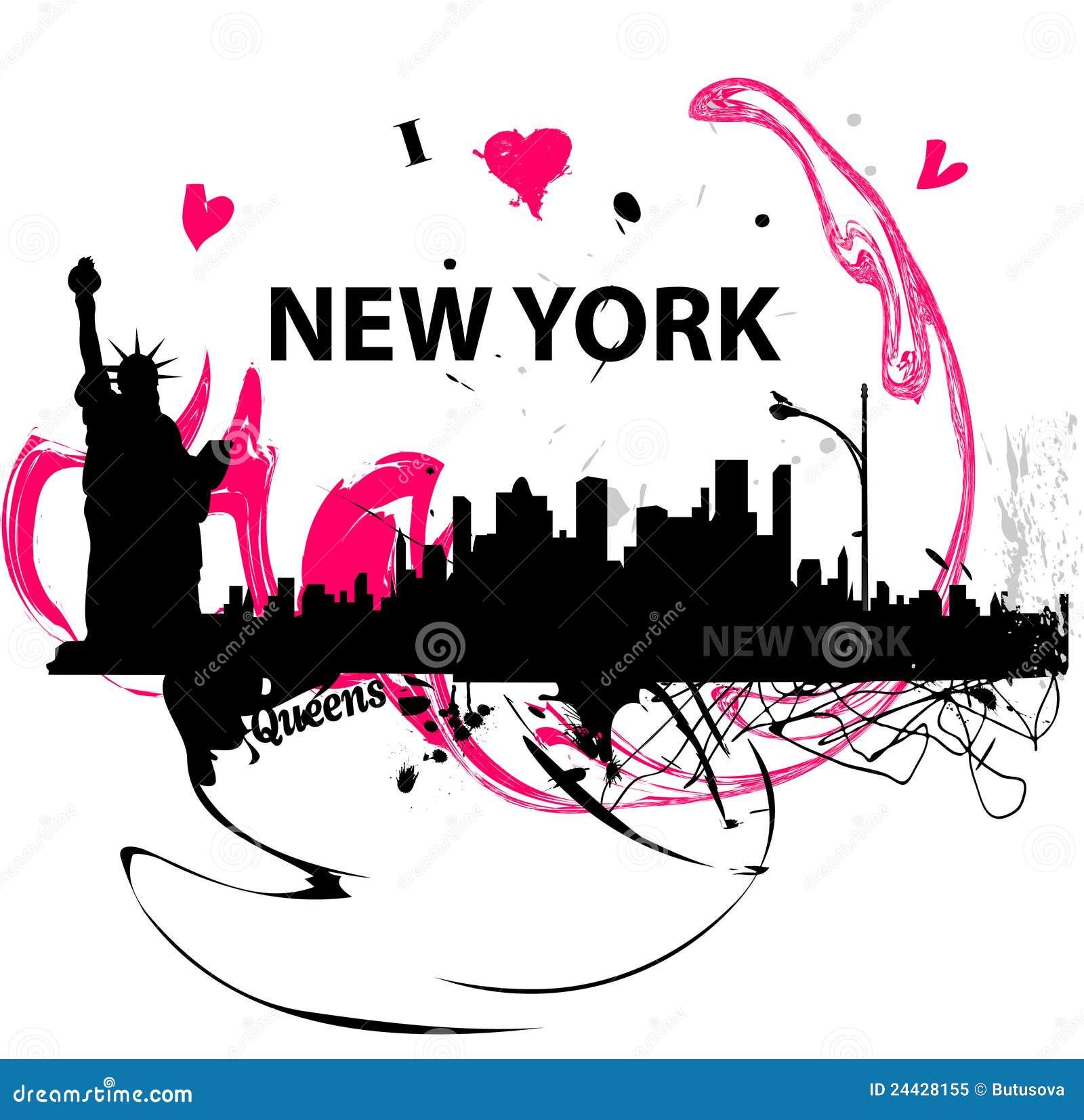 i love new york poster stock image. image of illustration - 24428155