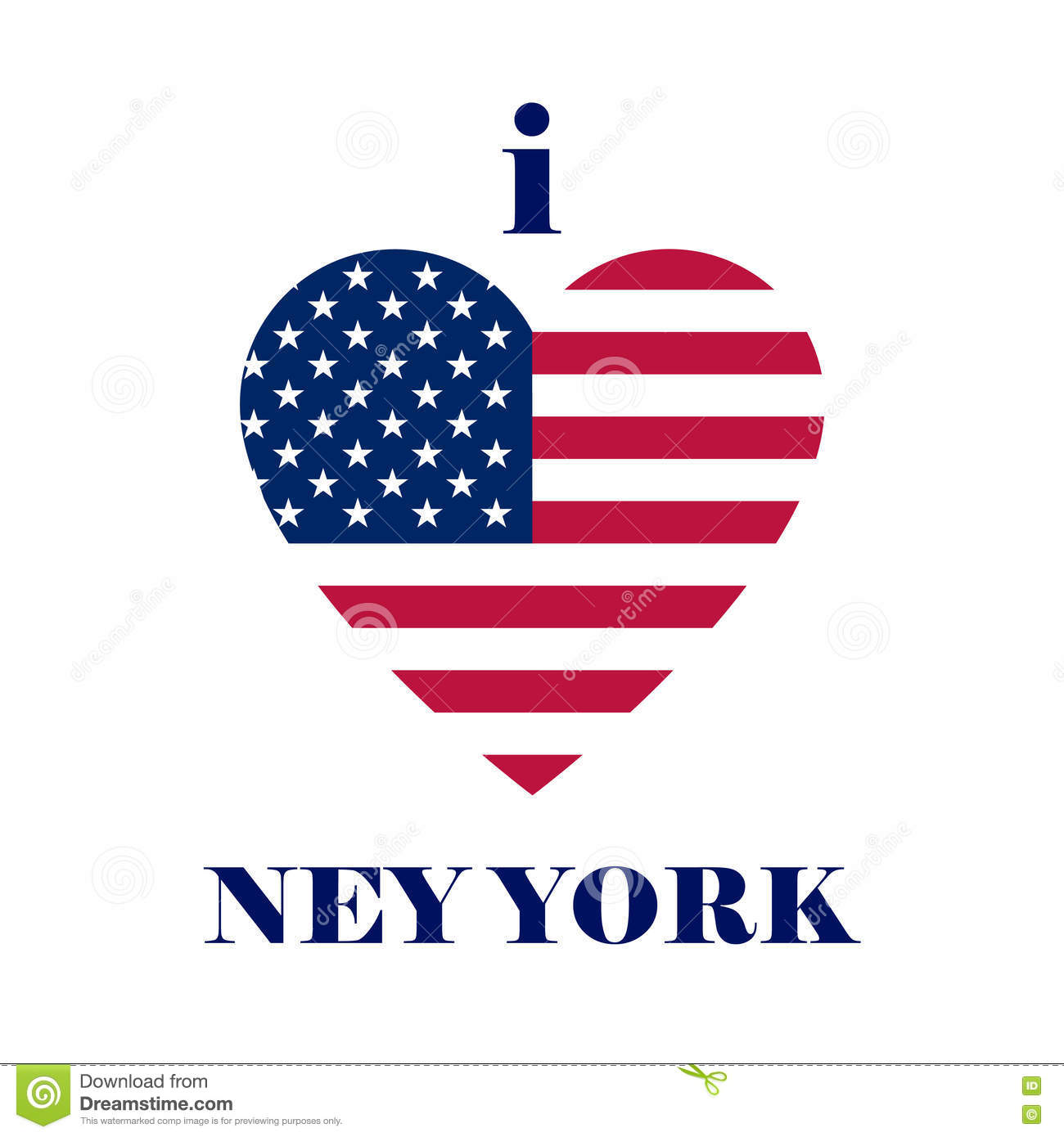 I love New york t-shirt design. Heart tee templates with USA fla
