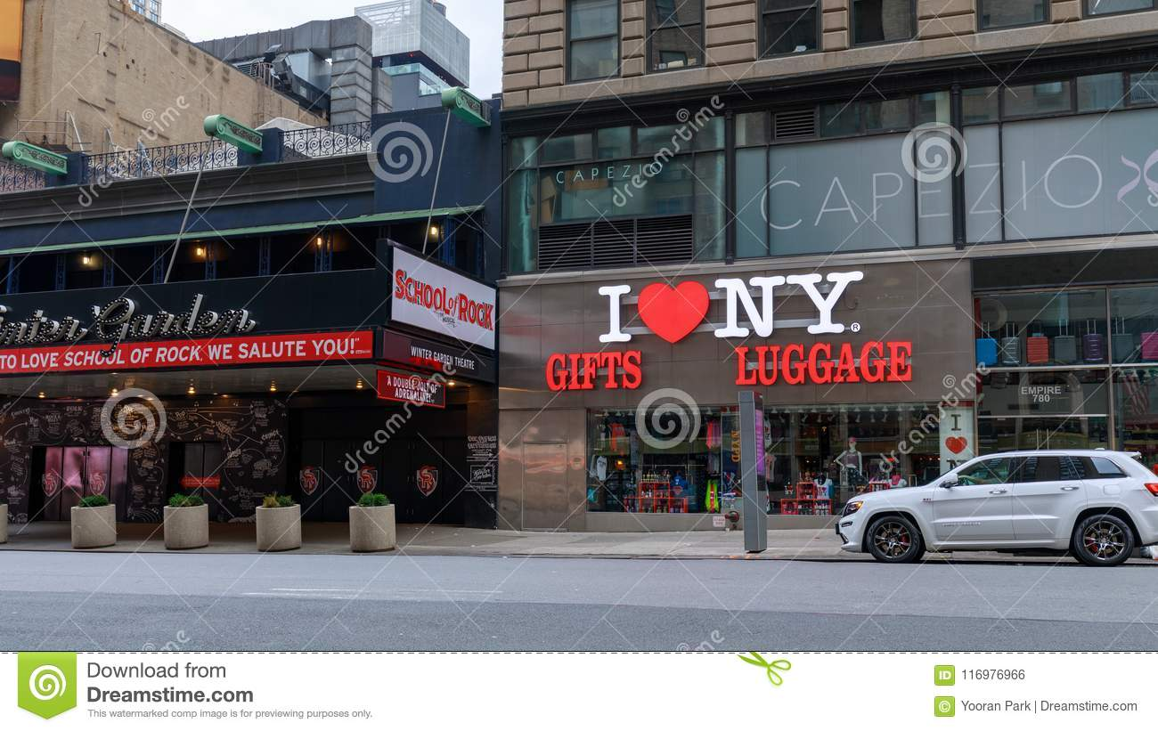 I LOVE NY, gifts and luggage store located near Times Square in Manhattan