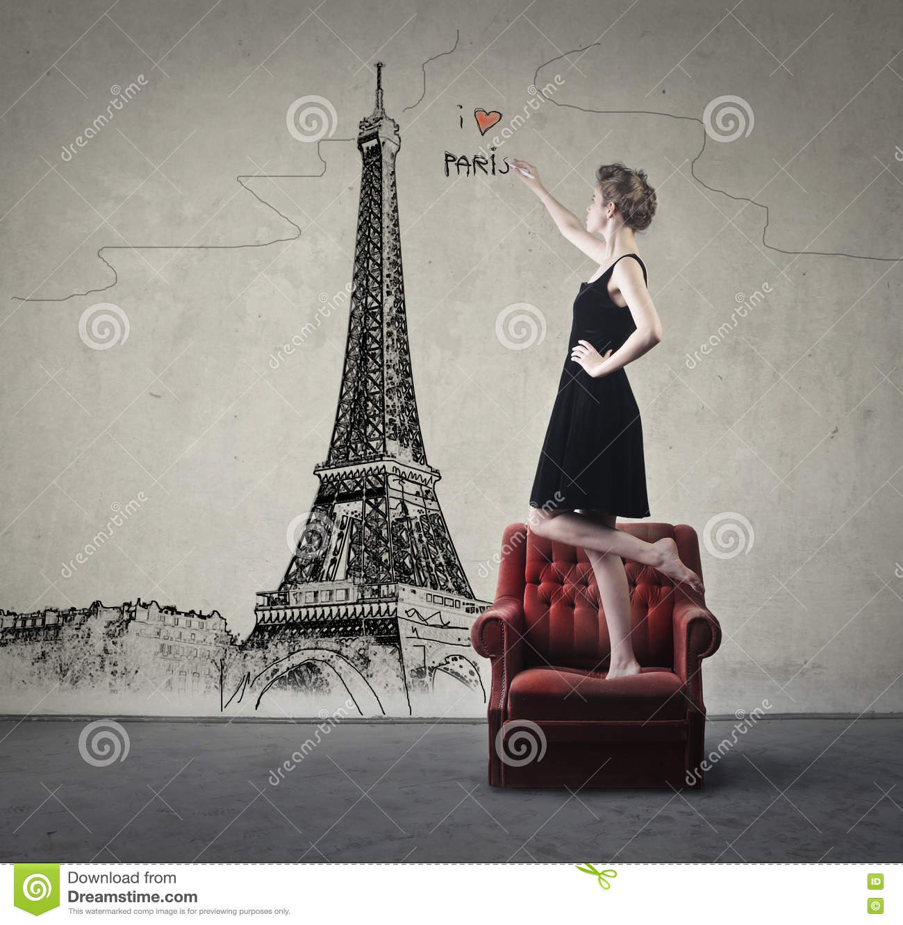 I Love Paris Stock Illustration Illustration Of Think 71279023