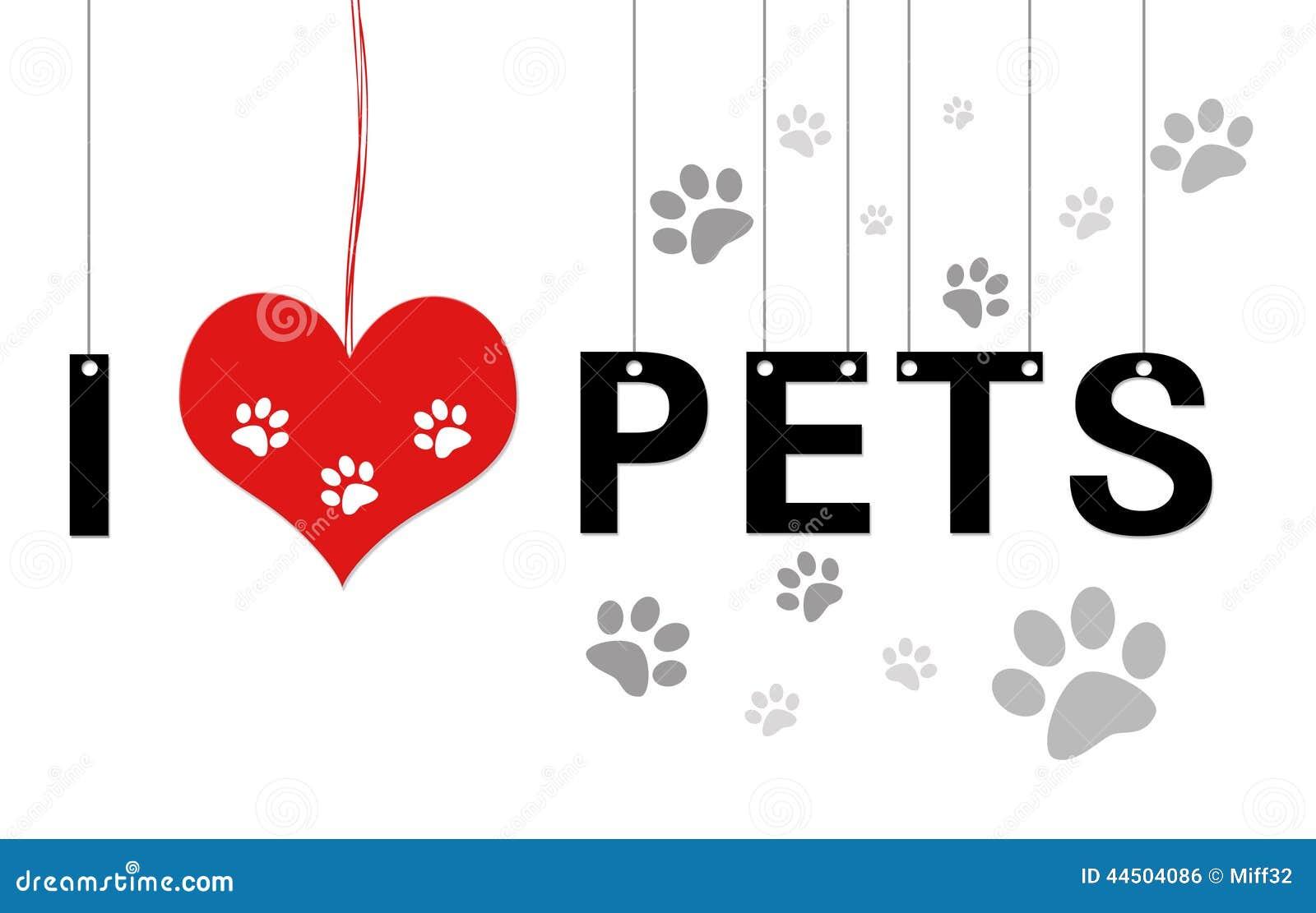 i love pets stock illustration   image 44504086
