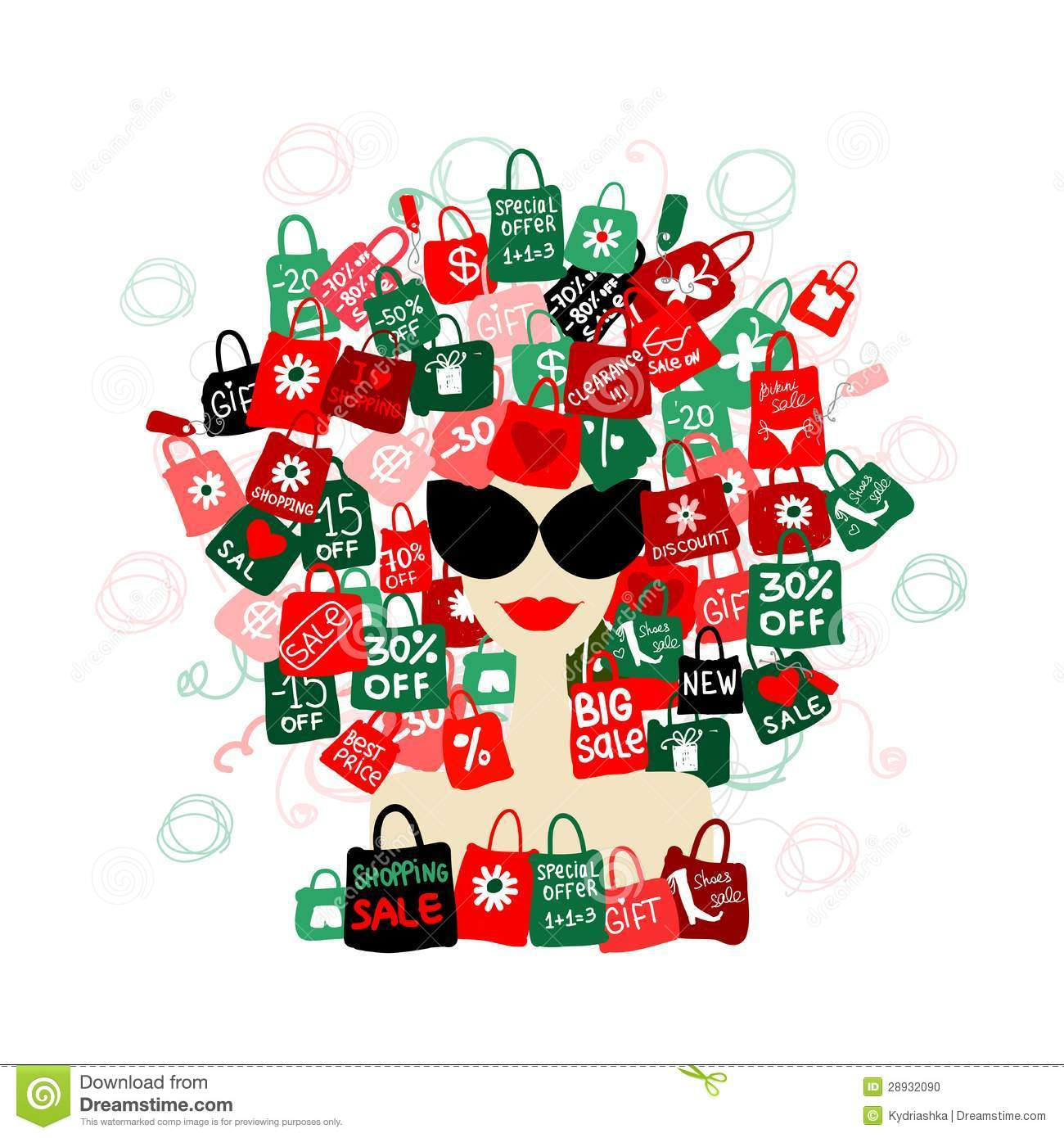 Citaten Love Fashion : I love sale fashion woman with shopping concept vector