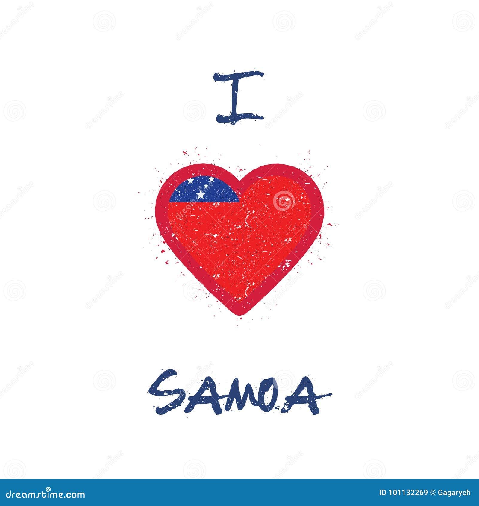 I Love Samoa T Shirt Design Stock Vector Illustration Of Graphics