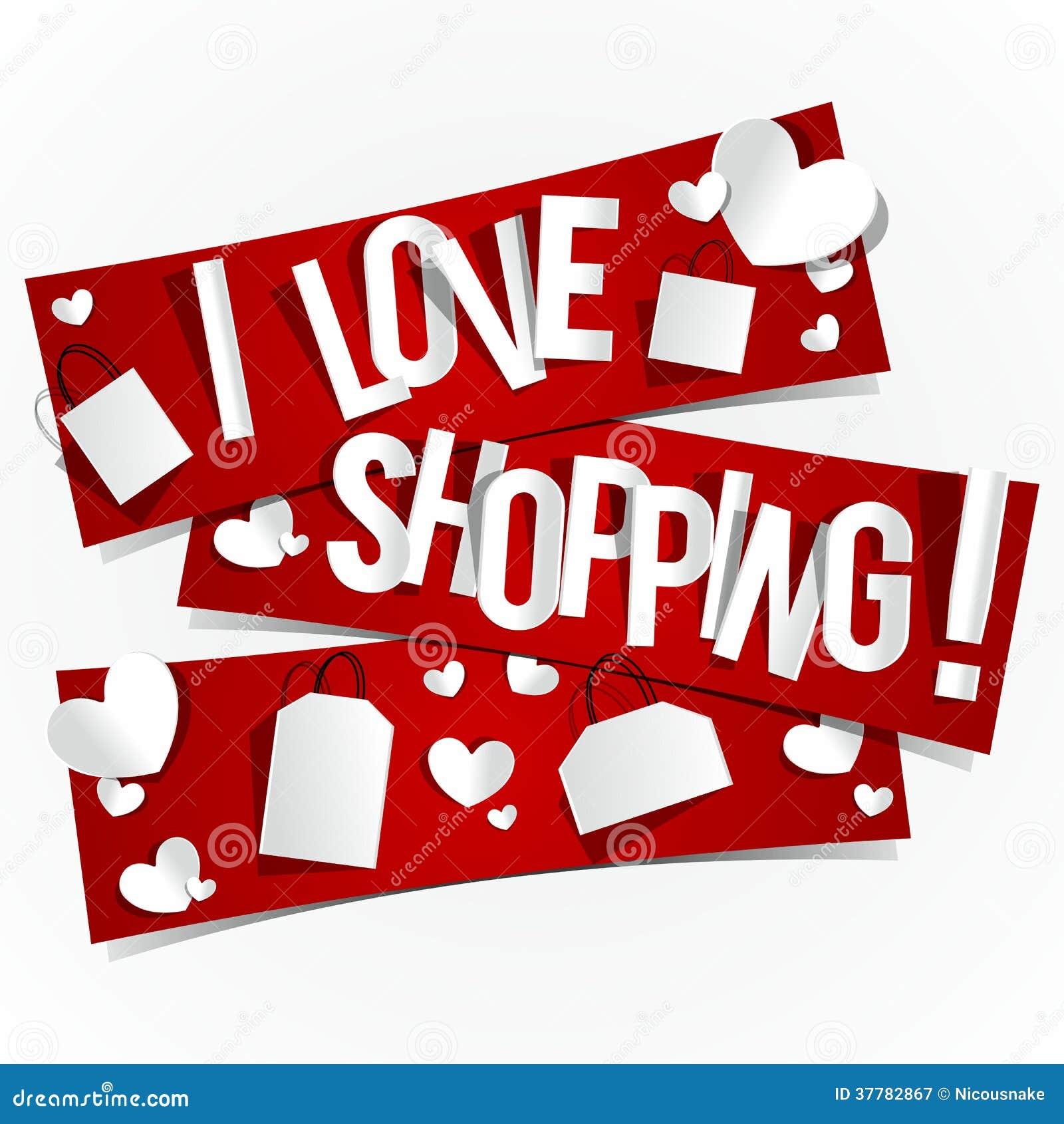 I Love Shopping Royalty Free Stock Photography Image