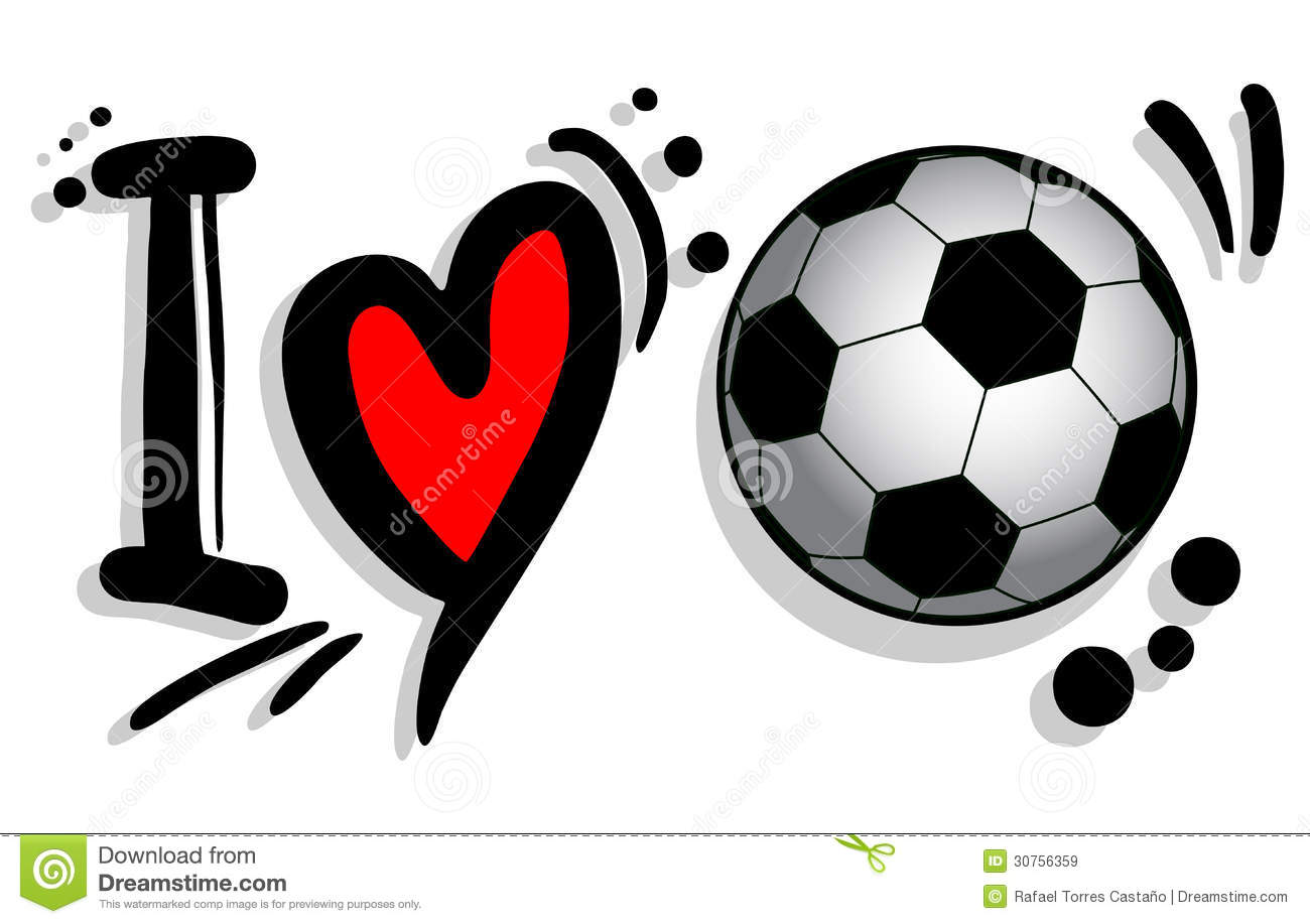 I Love Soccer Royalty Free Stock Image
