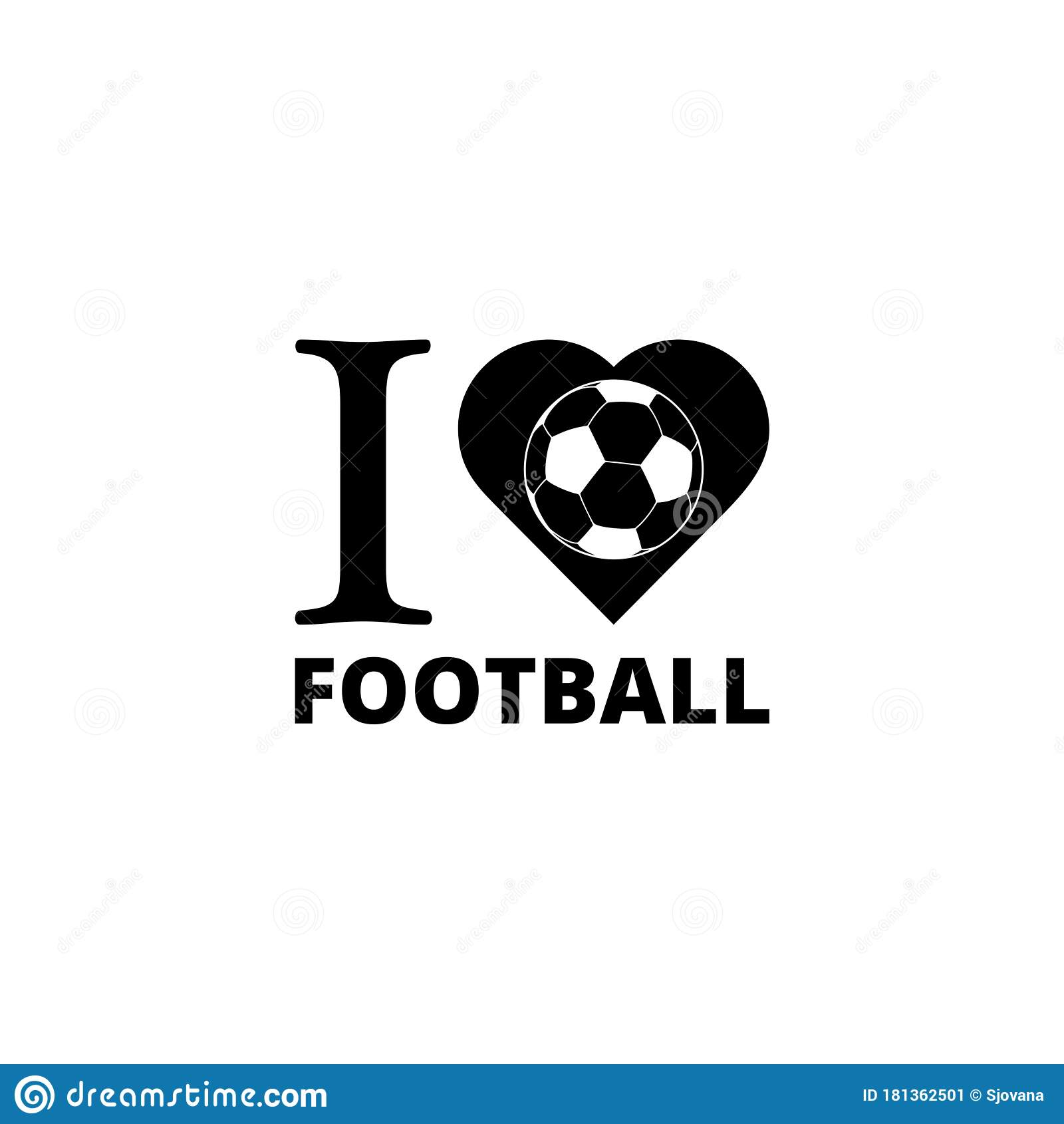 Download I Love Soccer, I Love Football Icon Isolated On White ...