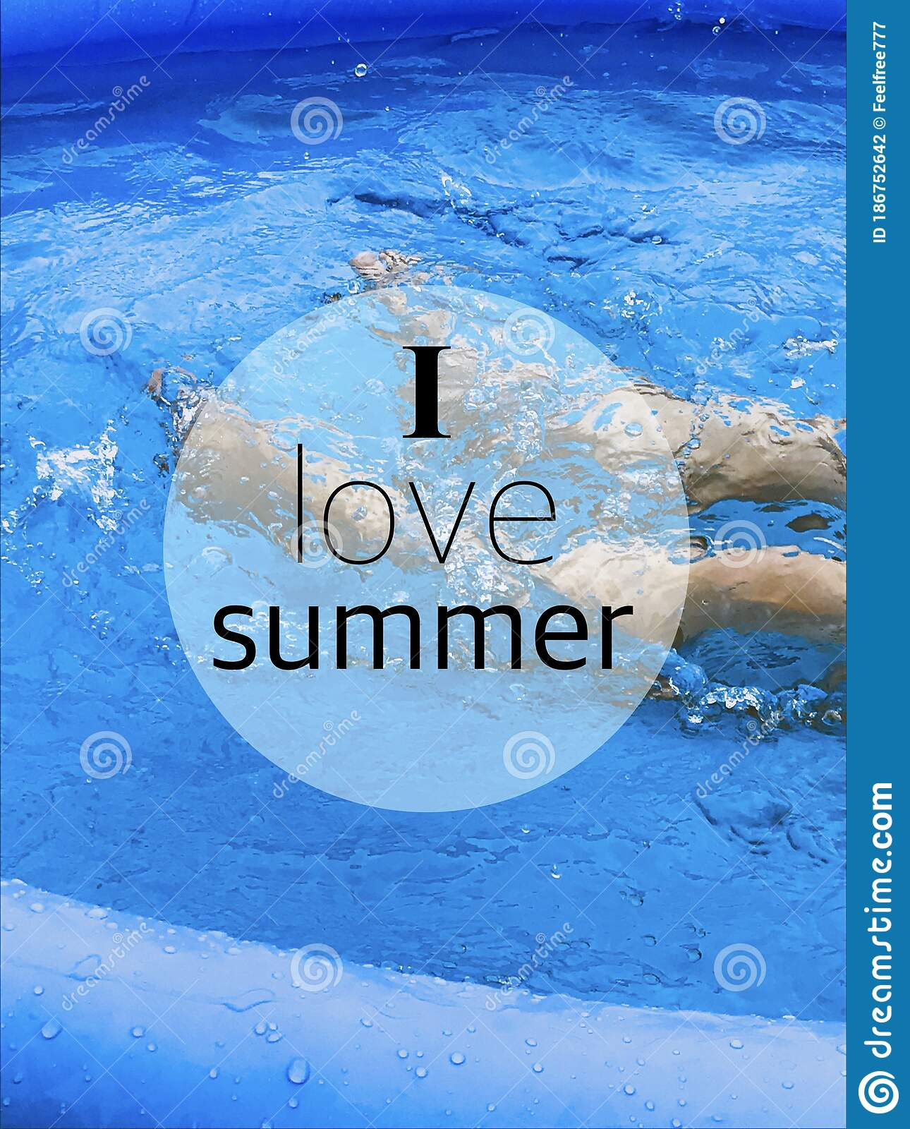 I Love Summer Happy Quotes Business Concep Artwork Stock Photo Image Of Products Team 186752642