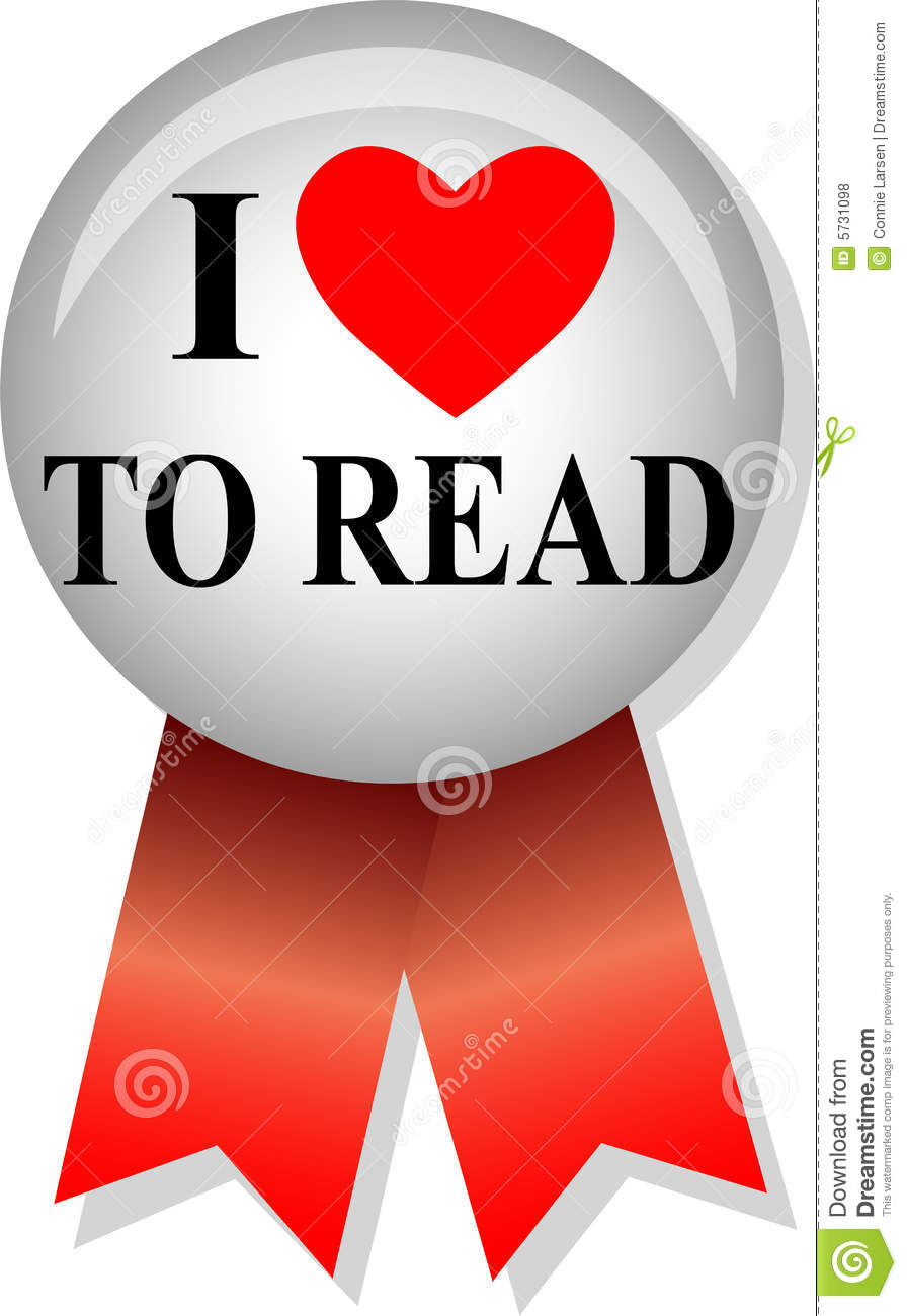 I Love To Read Buttoneps I Love Books Clipart