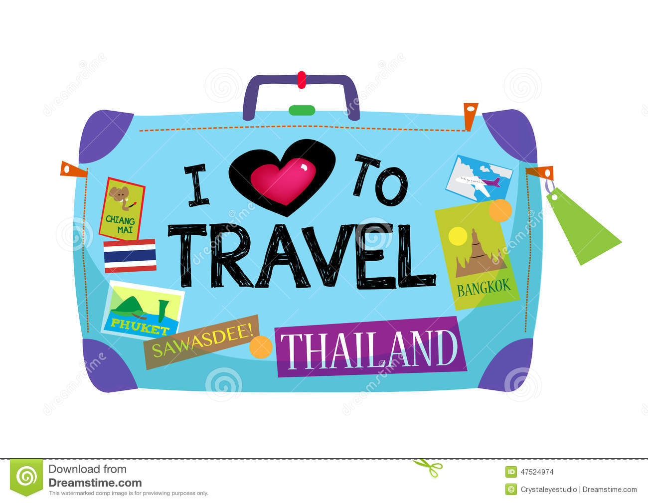 i love to travel thailand baggage stock vector image chicken pictures clip art relaxing chicken images clip art