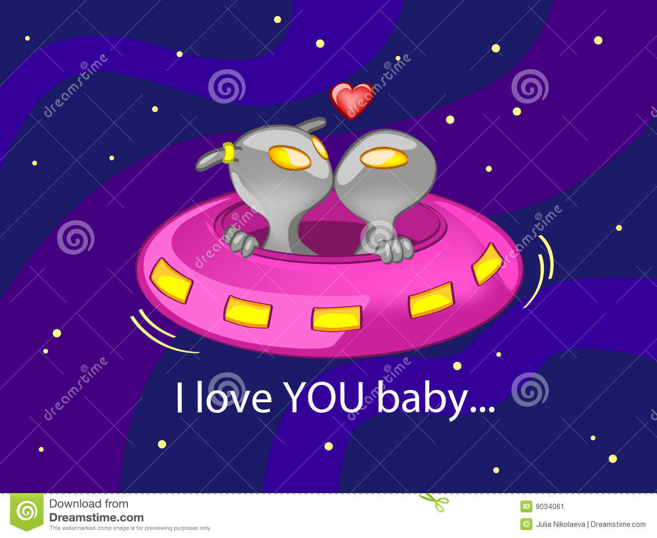 Stock Image: I love YOU baby