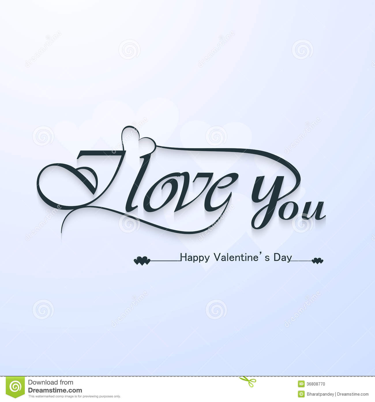 I love you calligraphic headline text valentines stock I love you calligraphy