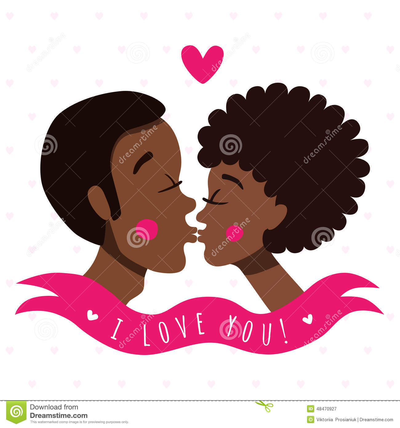 I love you card with kissing couple african americans stock i love you card with kissing couple african americans kristyandbryce Image collections