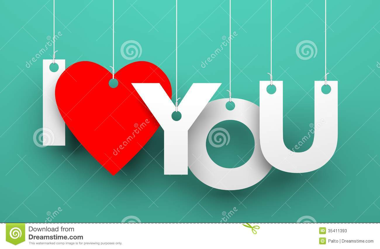 i love you stock illustration. illustration of object - 35411393