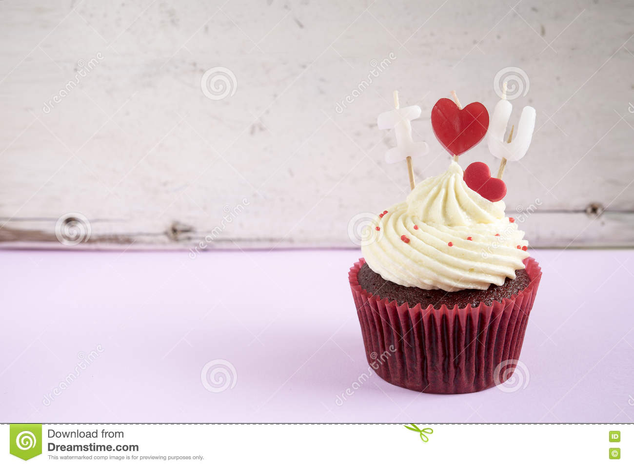 I love you cupcake stock image. Image of love, cupcake ...