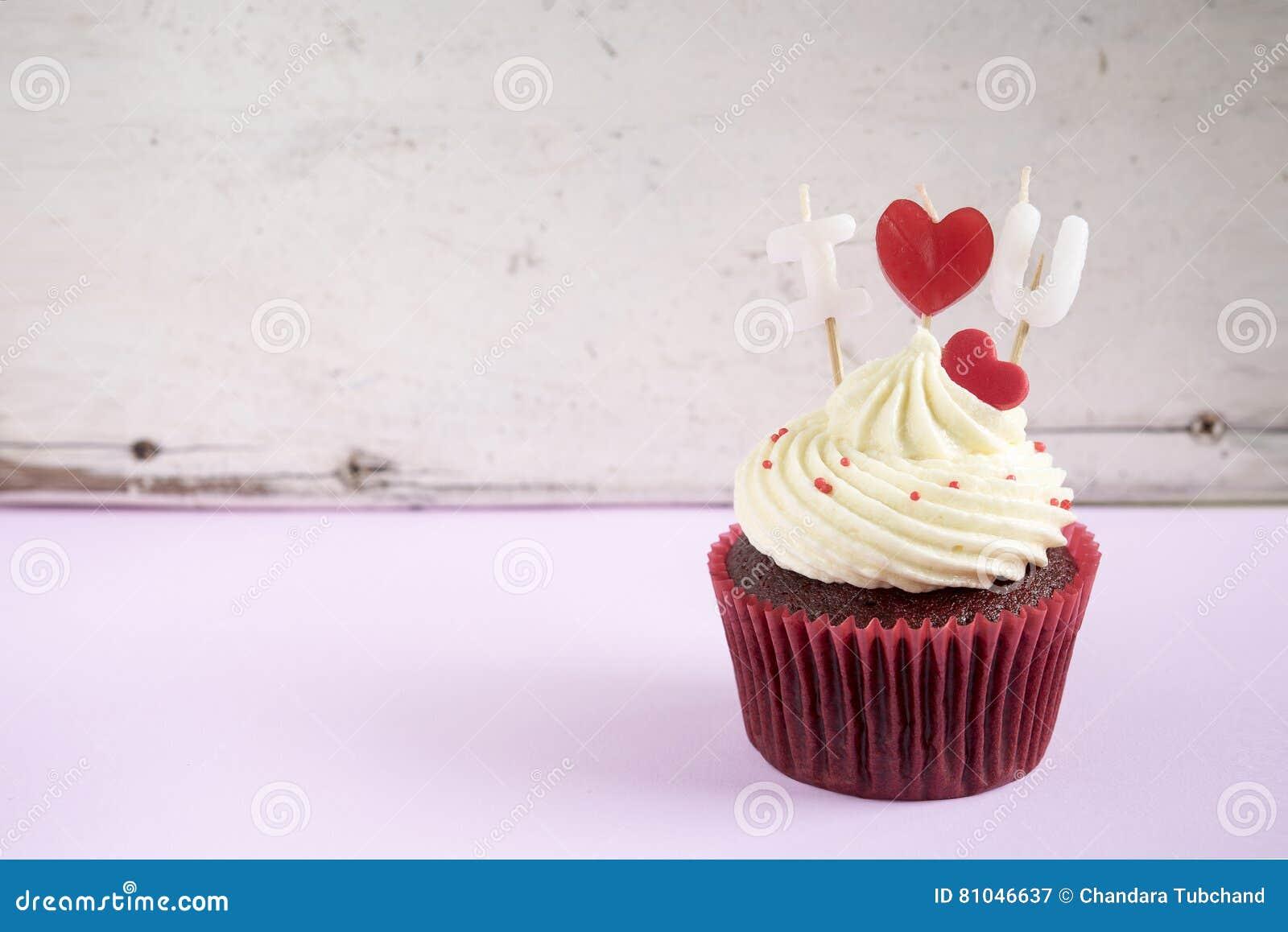 Love Cupcake Icons Set Hexagon Vector Illustration ...