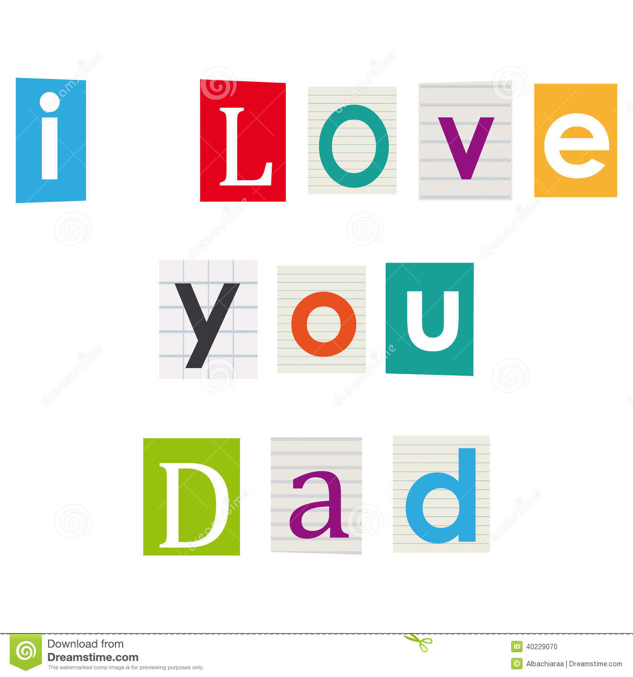 I Love You Dad Stock Vector