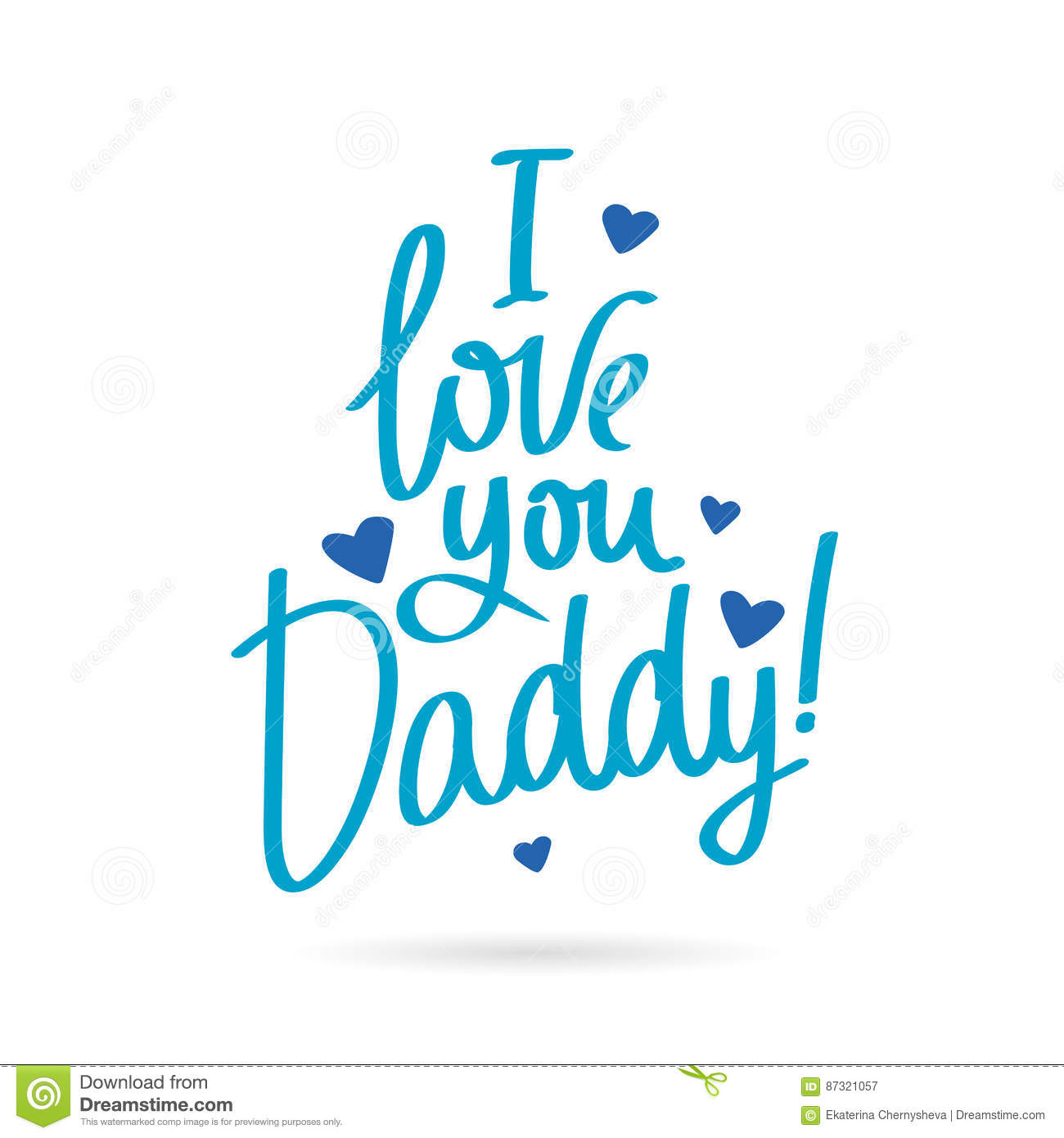 Daddy cartoons illustrations vector stock images - I love you daddy download ...