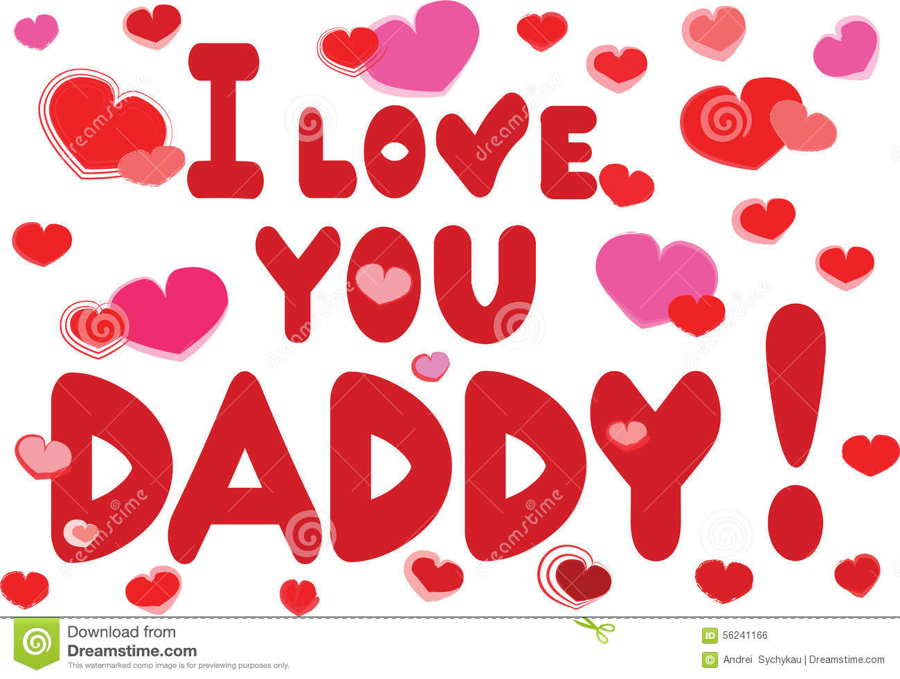 I Love You Daddy Stock Vector Illustration Of Anniversary 56241166