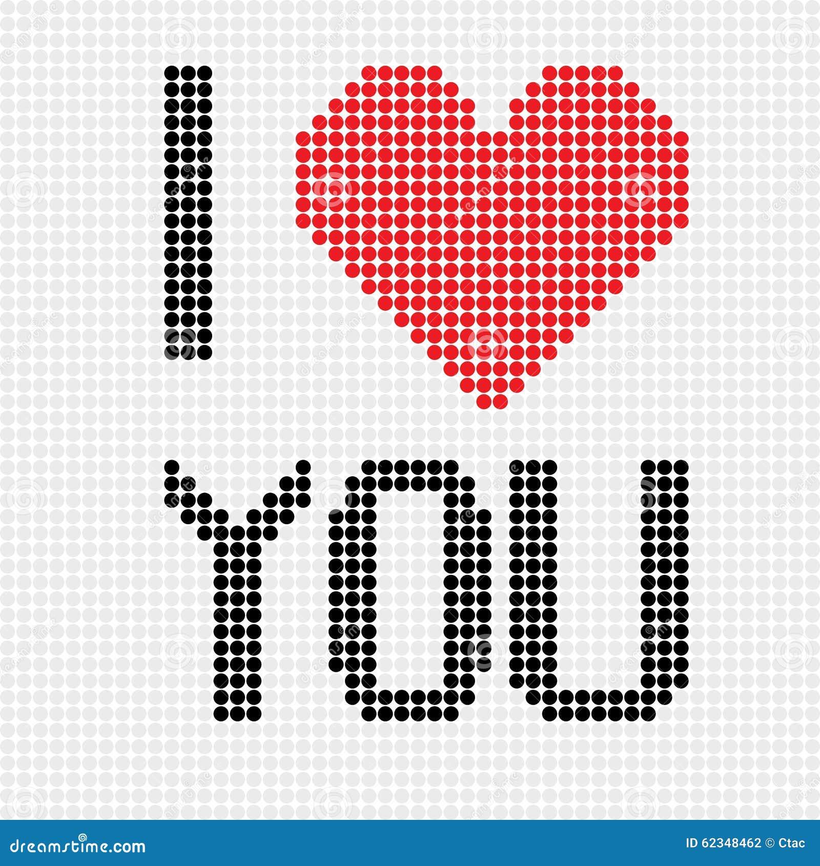 i love you dots stock vector image 62348462. Black Bedroom Furniture Sets. Home Design Ideas