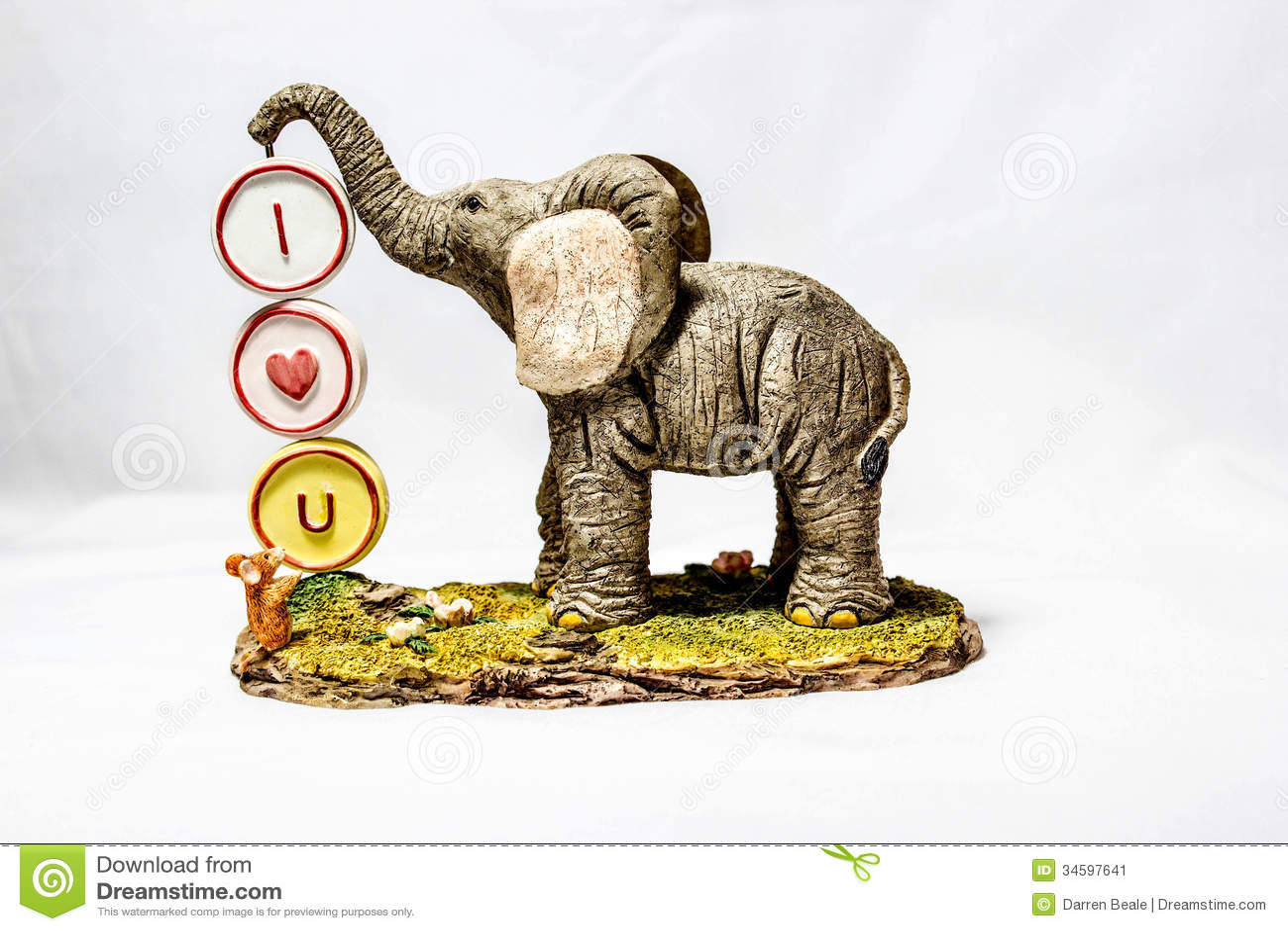 I Love You Imágenes De Stock I Love You Fotos De Stock: I Love You Elephant Stock Image