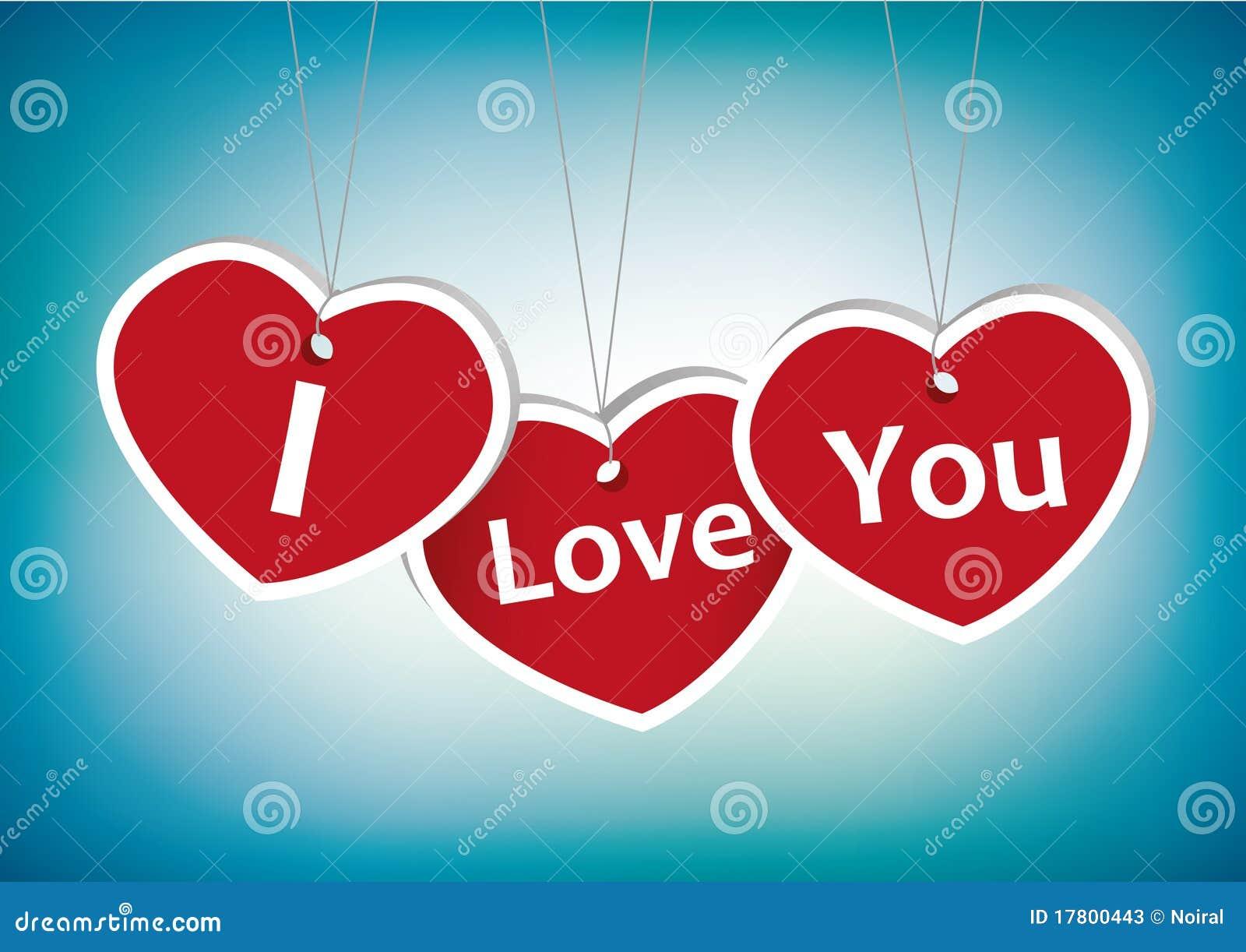 i love you greeting card stock photos  image 17800443