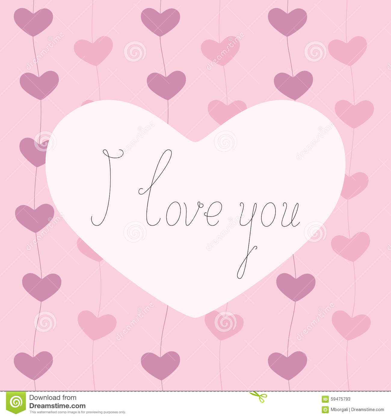 I love you greeting card stock vector illustration of decoration i love you greeting card m4hsunfo