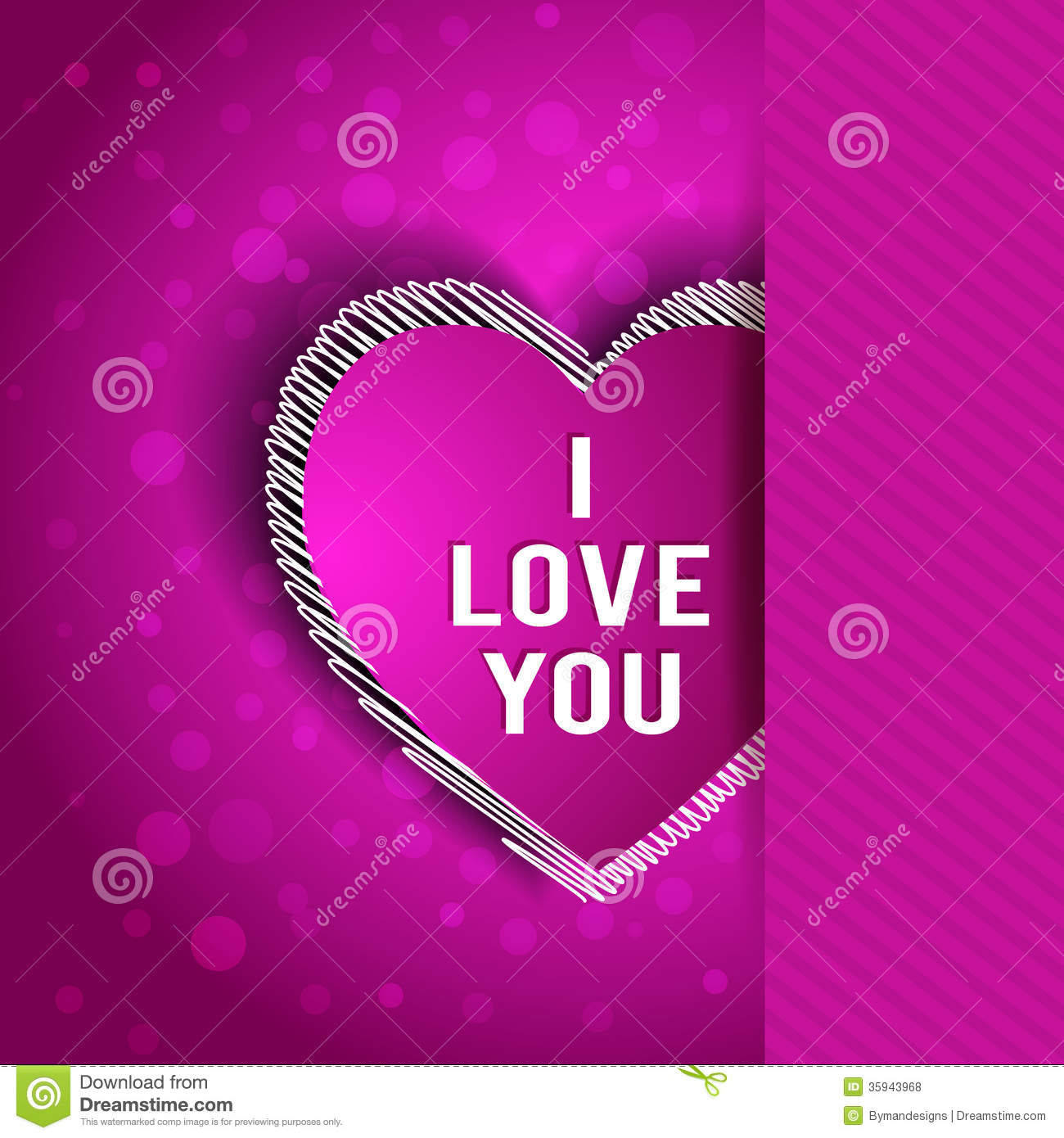 I Love You Greeting Card Stock Vector Illustration Of Design 35943968