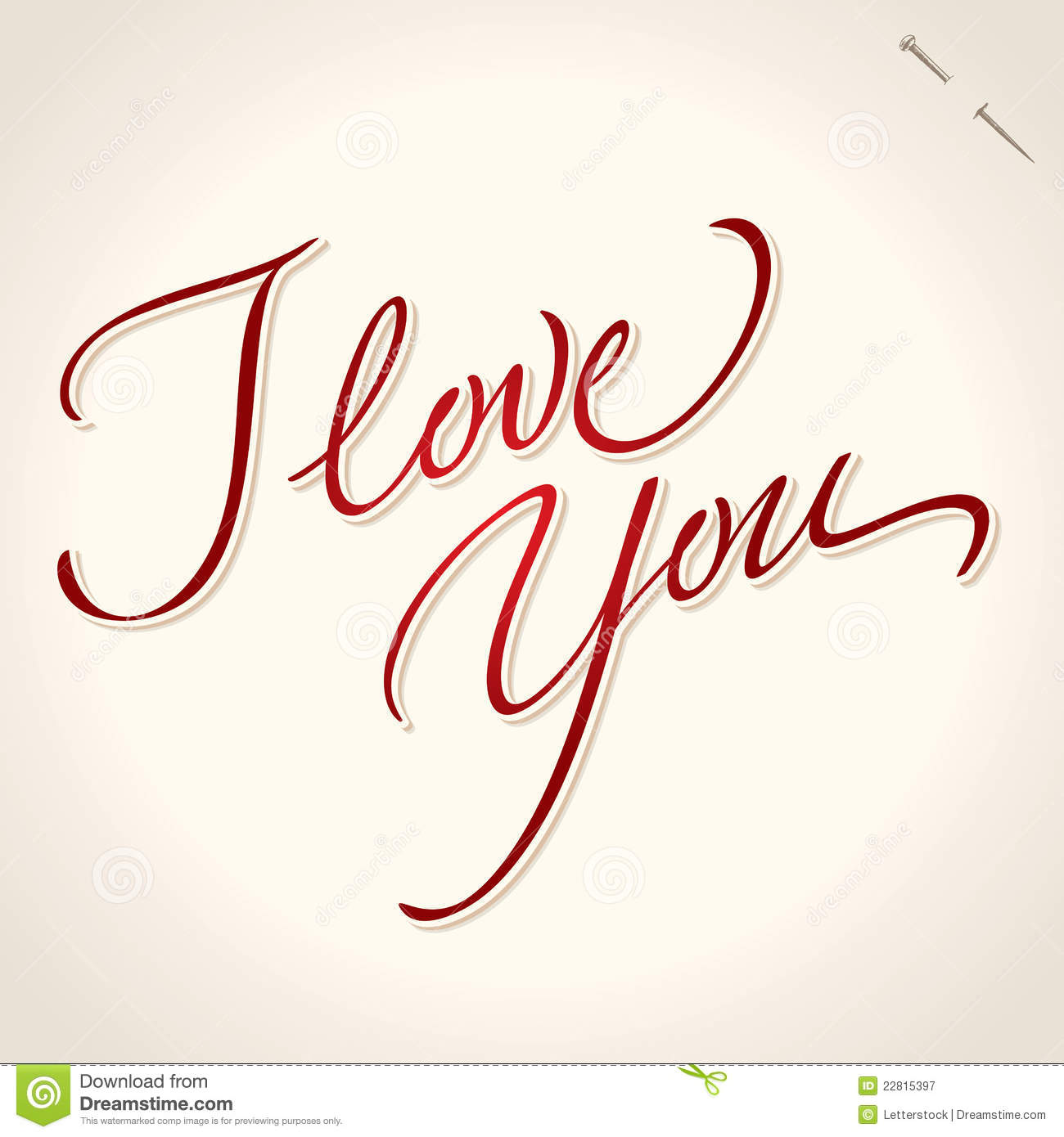 I love you hand lettering vector royalty free stock I love you calligraphy