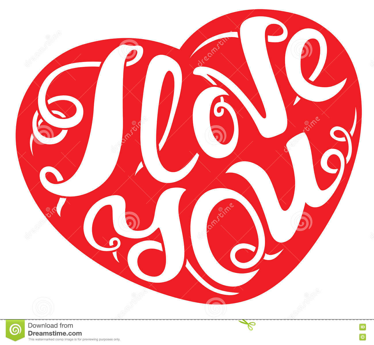 I Love You Lettering Composition. Stock Vector - Illustration of ...